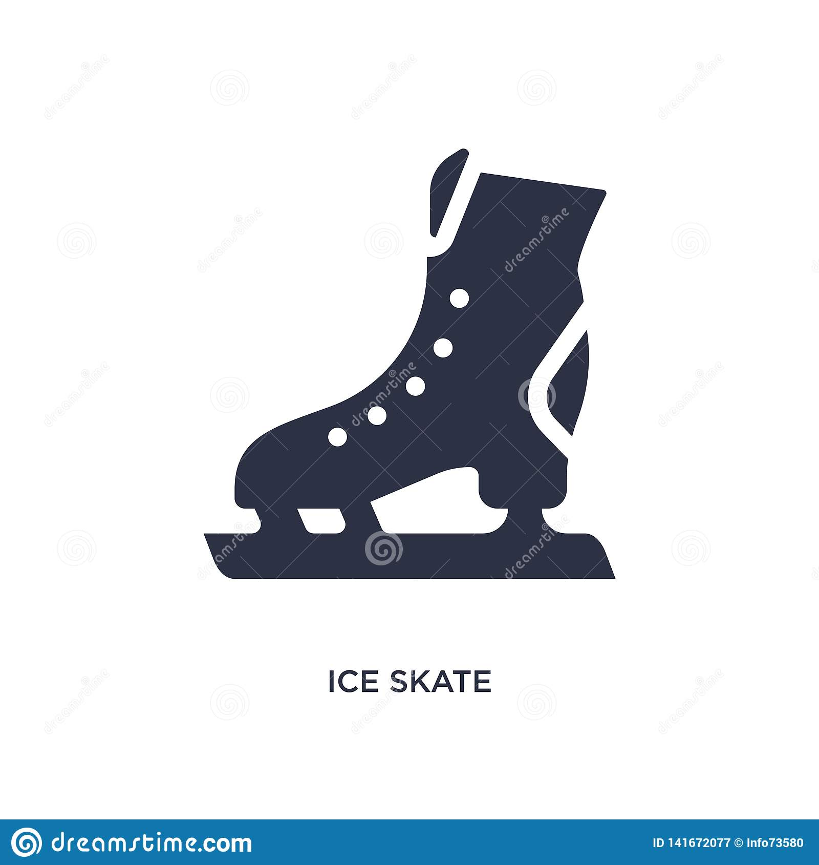 ícone do patim de gelo no fundo branco Ilustração simples do elemento do conceito do hóquei