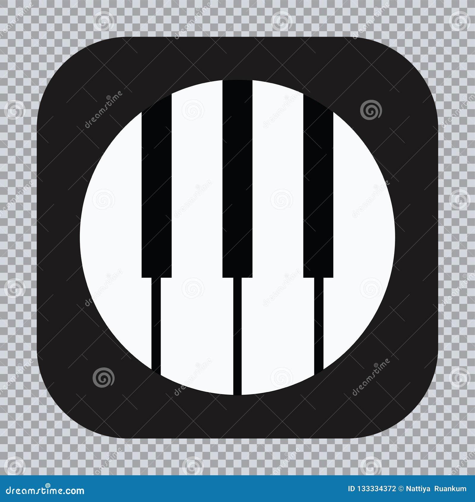 Ícone do piano e chaves da cópia da música moderna do conceito do piano e do cartaz do piano do design web no vetor branco