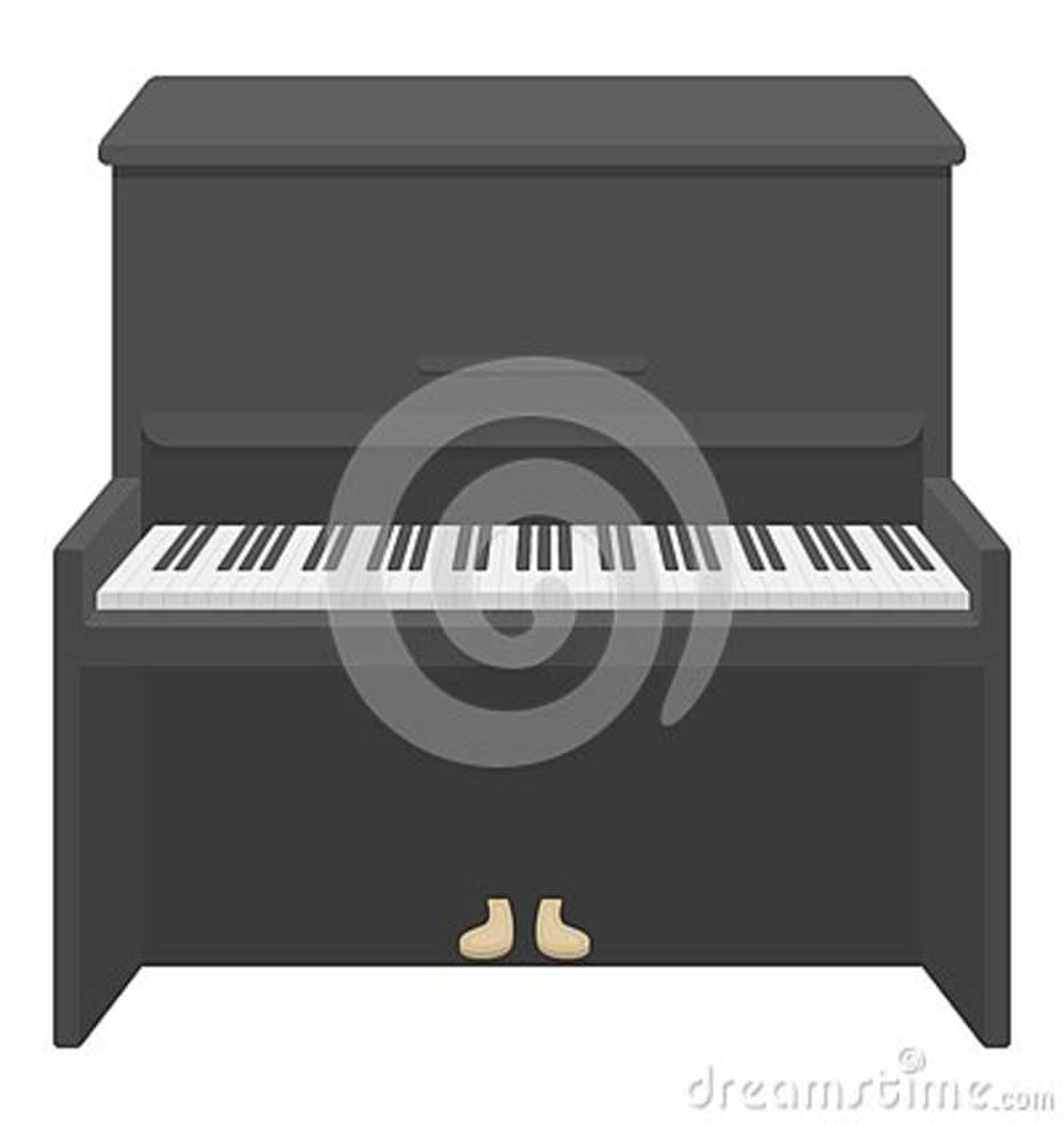 Ícone do piano no estilo dos desenhos animados isolado no fundo branco Ilustração do vetor do estoque do símbolo dos instrumentos