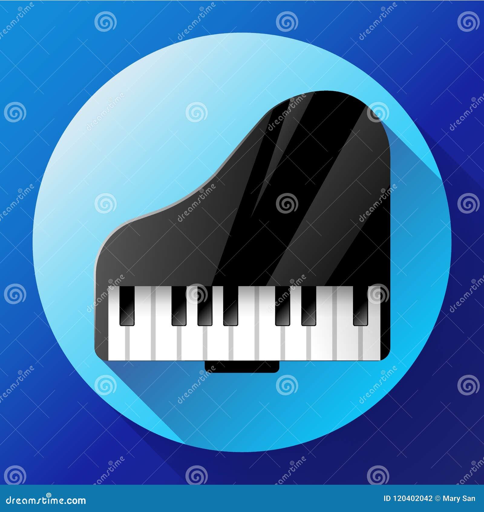 ícone Do Piano Um Símbolo Da Música Clássica Concerto Da Música De