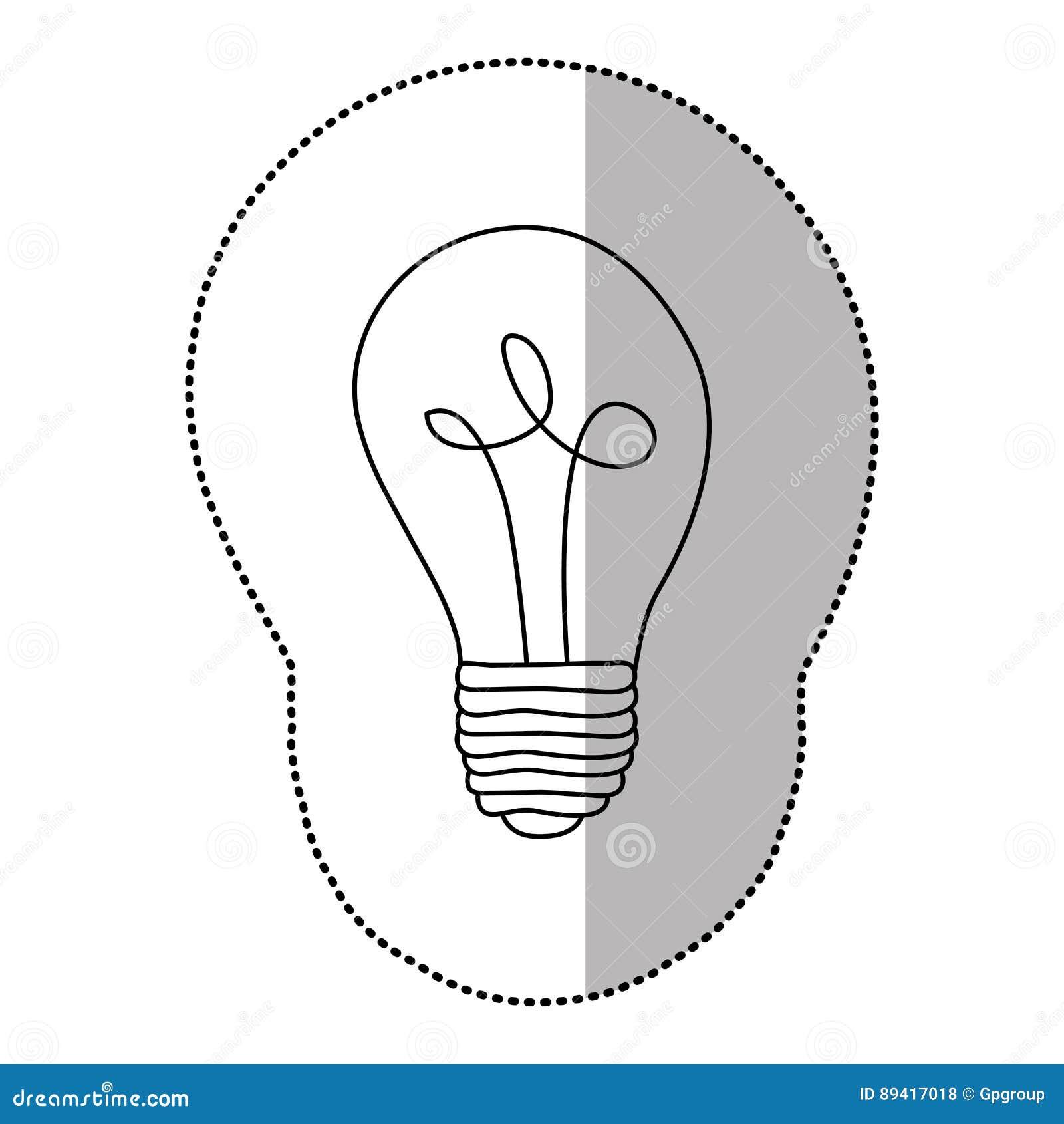 ícone do poder do bulbo da energia