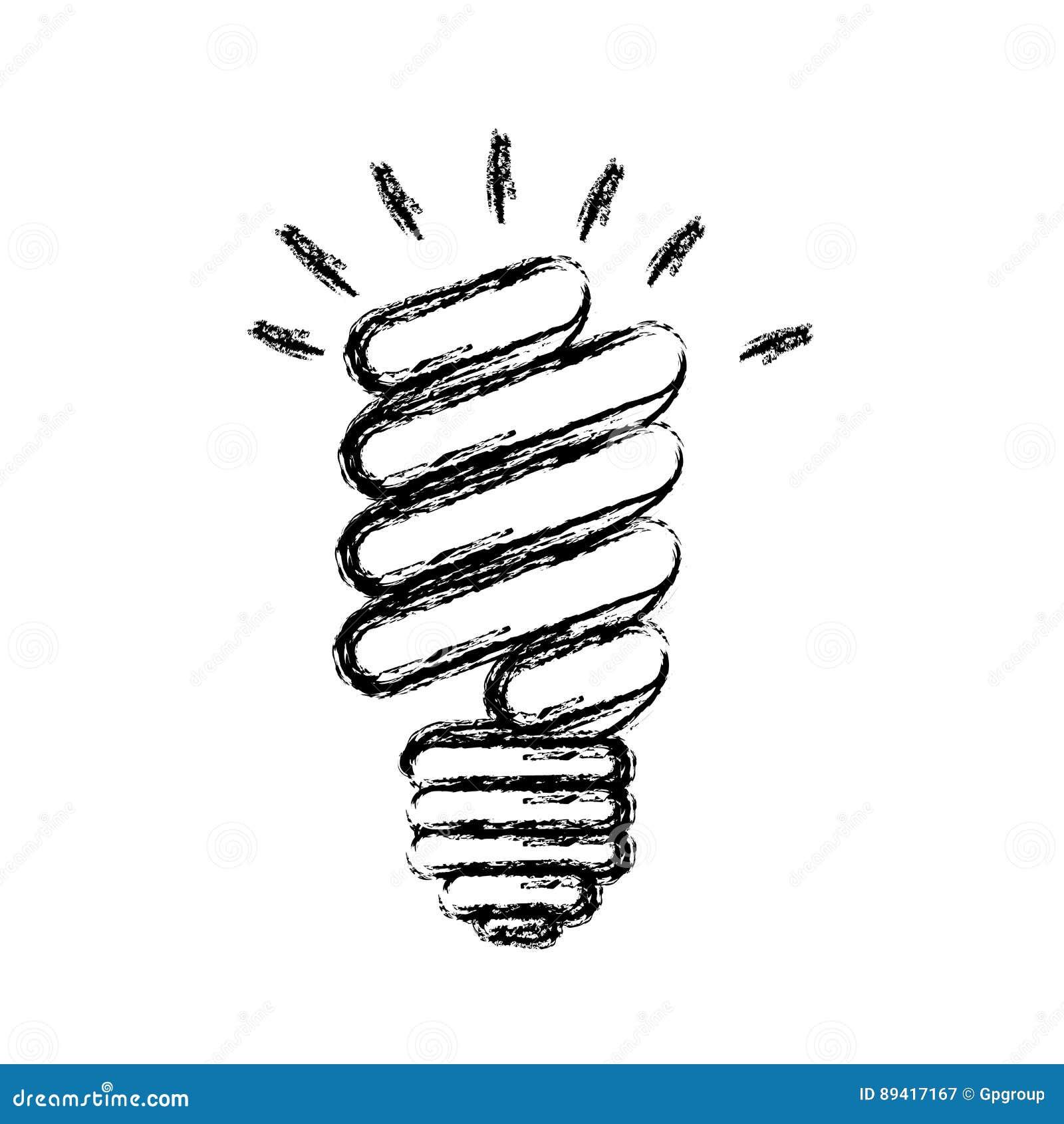 ícone do poder do bulbo das economias da energia