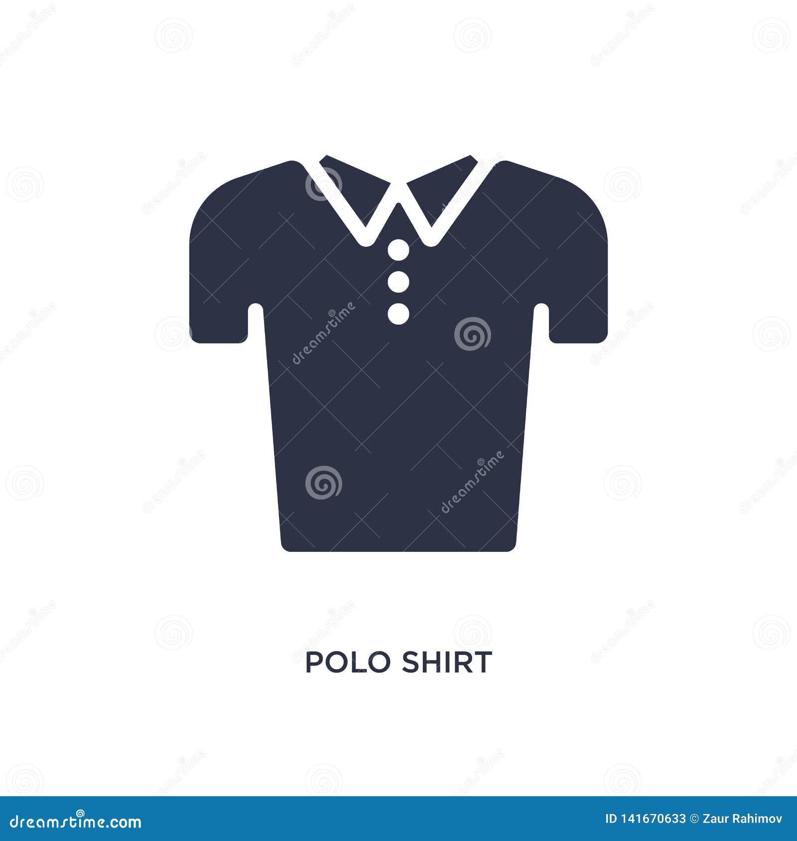 Ícone do polo no fundo branco Ilustração simples do elemento do conceito da roupa