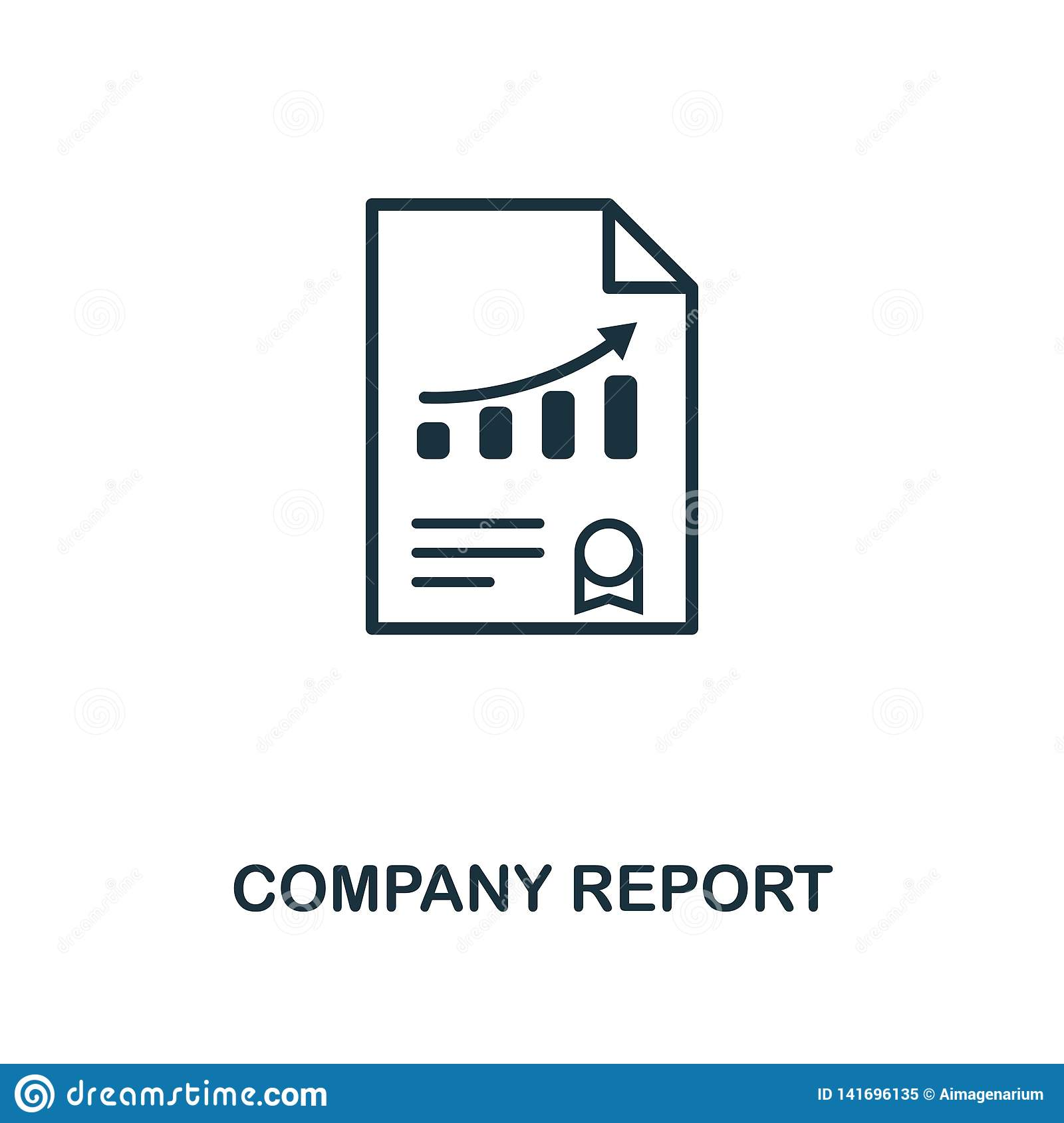 Ícone do relatório da empresa Projeto criativo do elemento da coleção dos ícones da gestão de riscos Ícone perfeito do relatório
