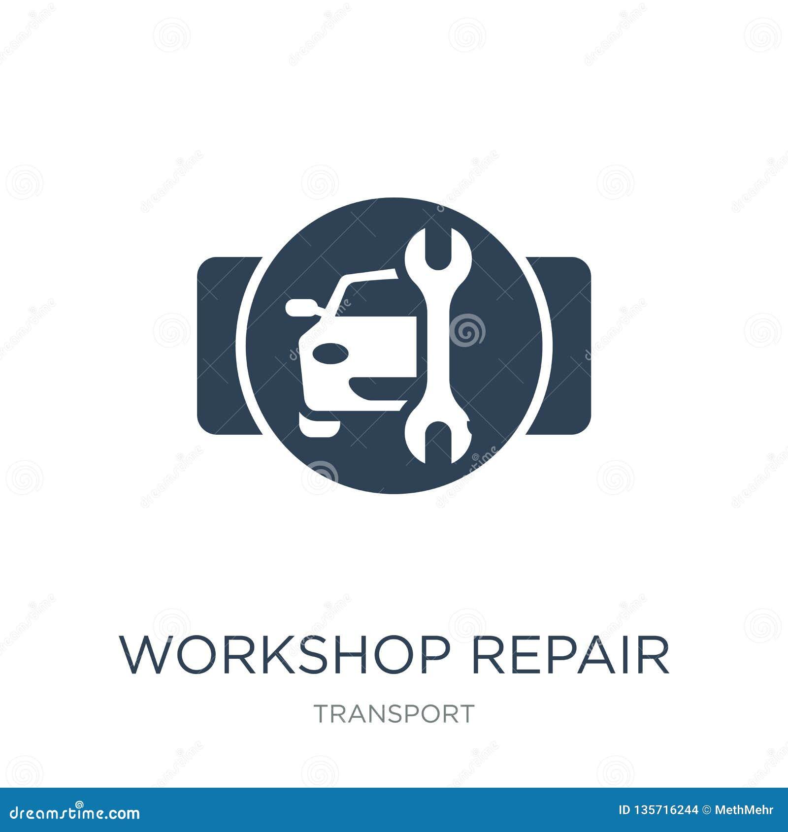 ícone do reparo da oficina no estilo na moda do projeto ícone do reparo da oficina isolado no fundo branco ícone do vetor do repa