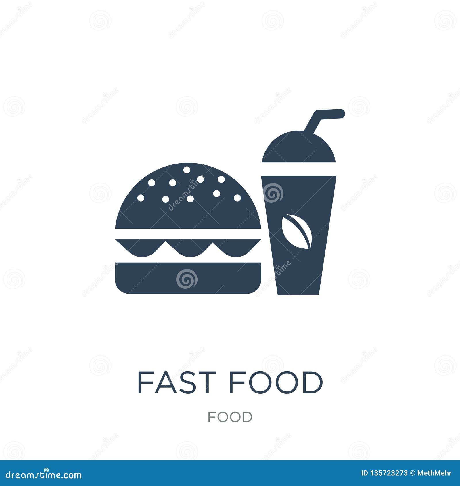 ícone do restaurante do fast food no estilo na moda do projeto ícone do restaurante do fast food isolado no fundo branco Restaura