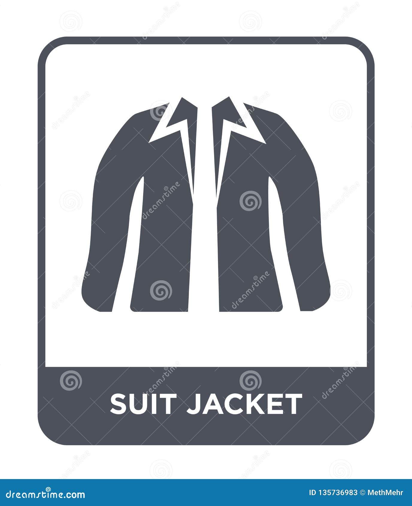 ícone do revestimento do terno no estilo na moda do projeto ícone do revestimento do terno isolado no fundo branco ícone do vetor