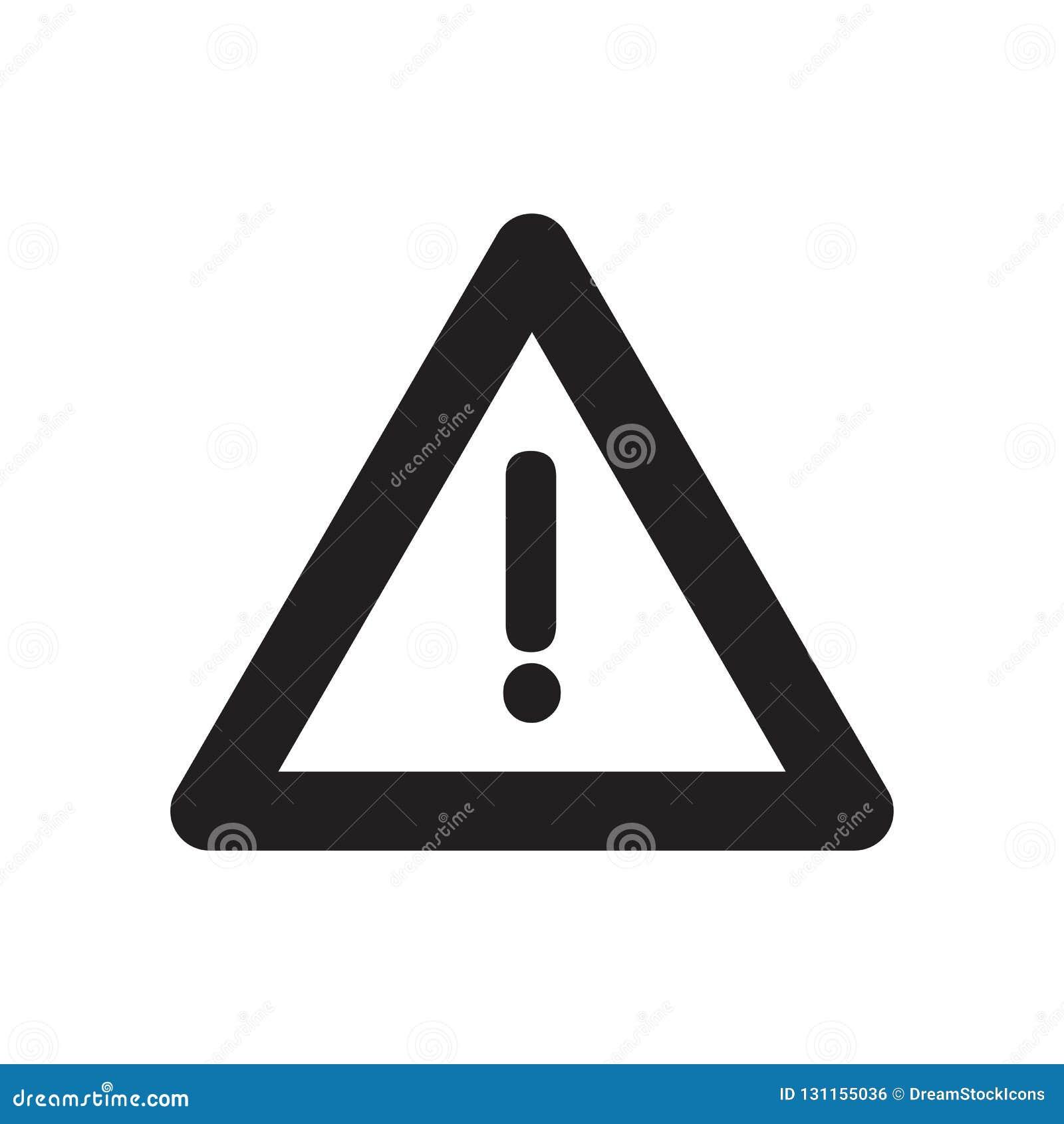 ícone do risco da construção Conceito na moda do logotipo do risco da construção sobre