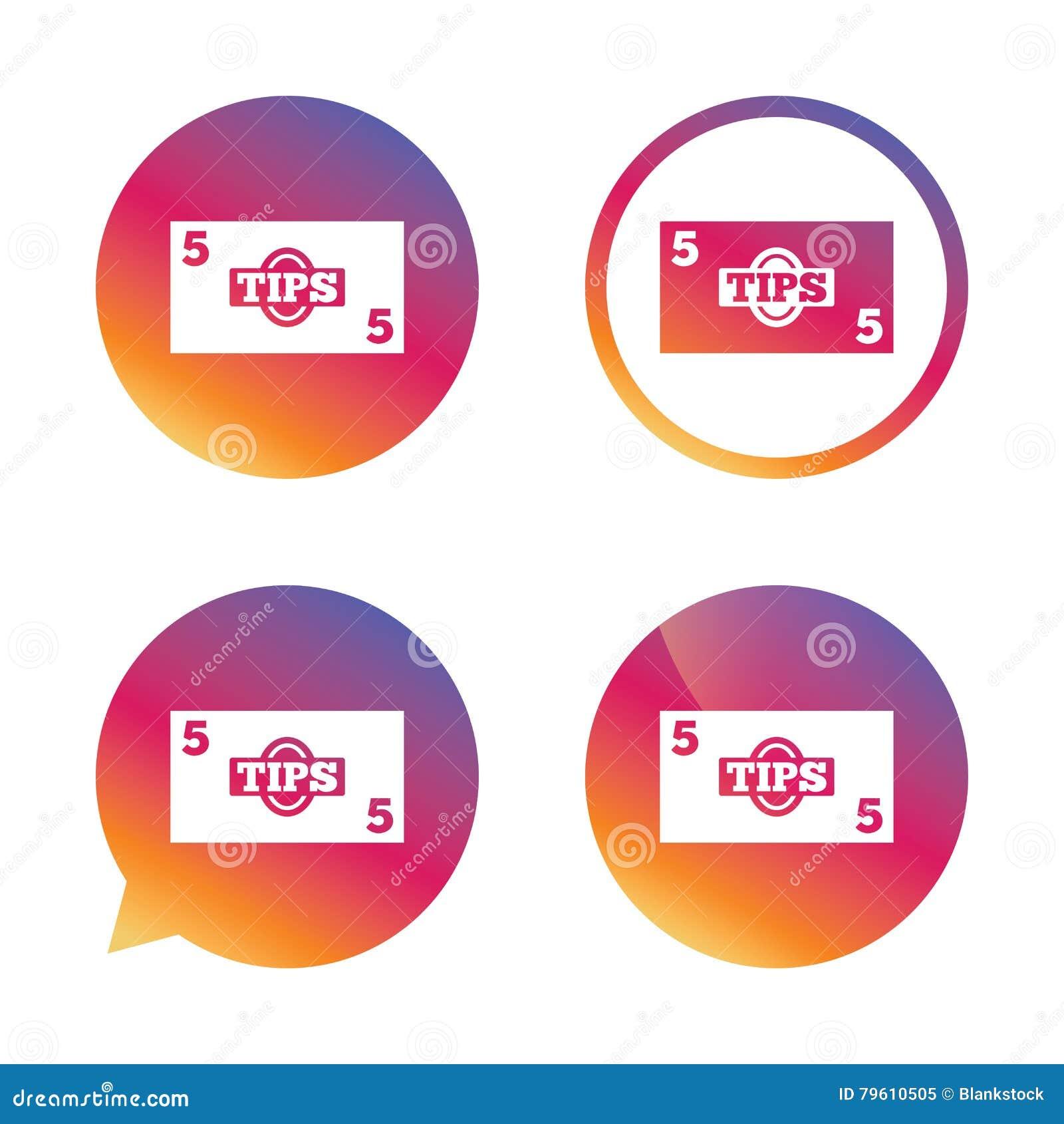 Ícone do sinal das pontas Símbolo do dinheiro do dinheiro