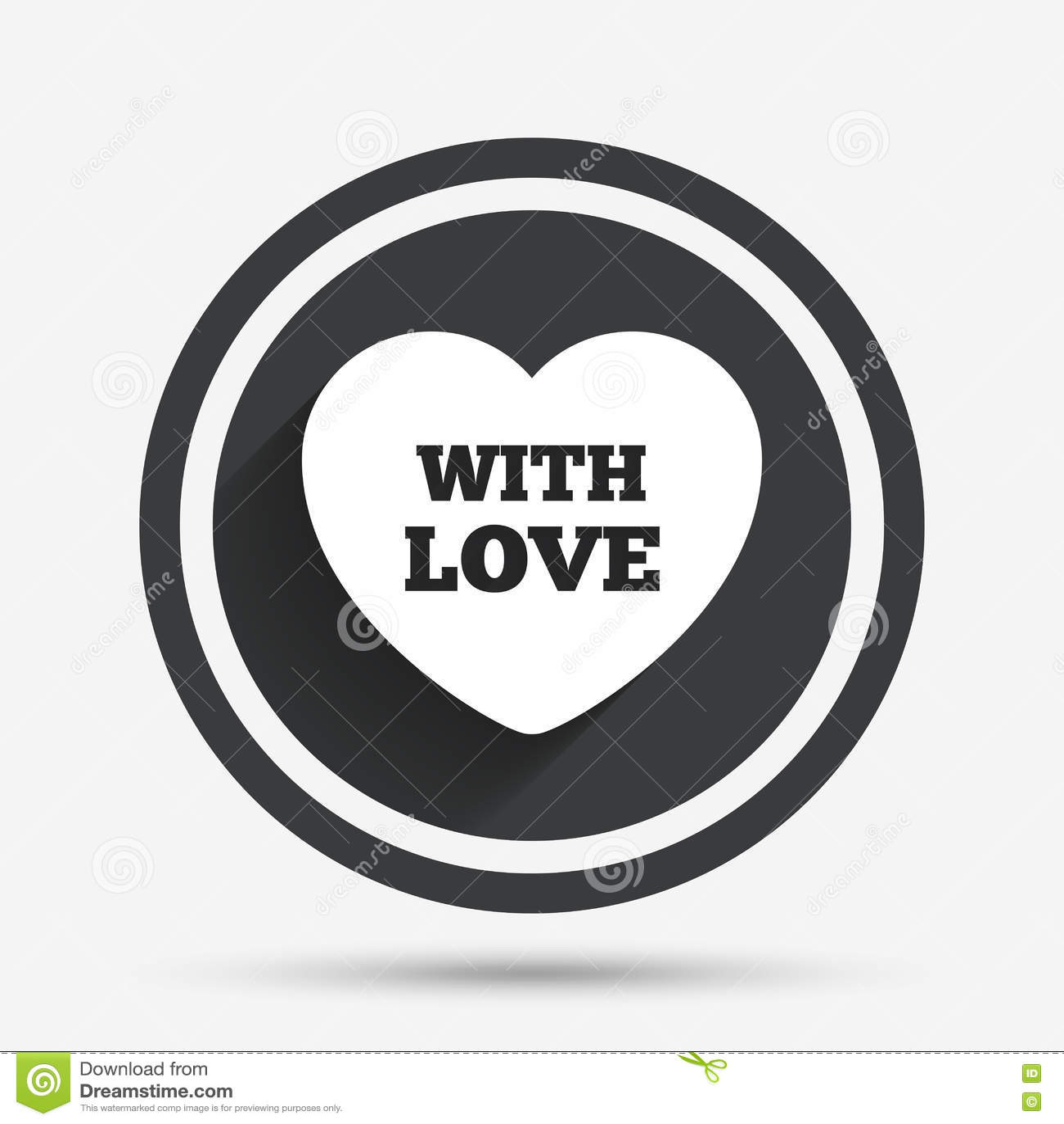 Ícone do sinal do coração Com símbolo do amor