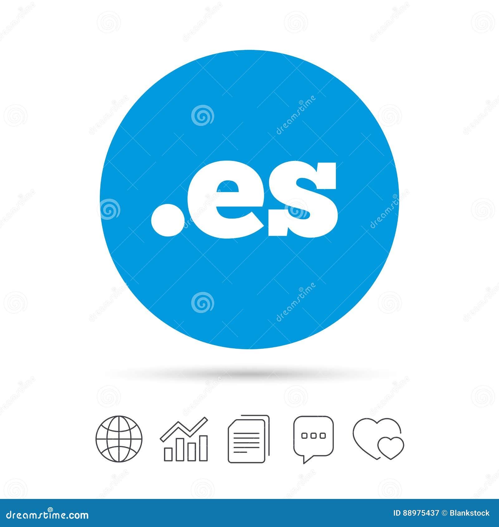 Ícone do sinal do ES do domínio Domínio nível mais alto do Internet