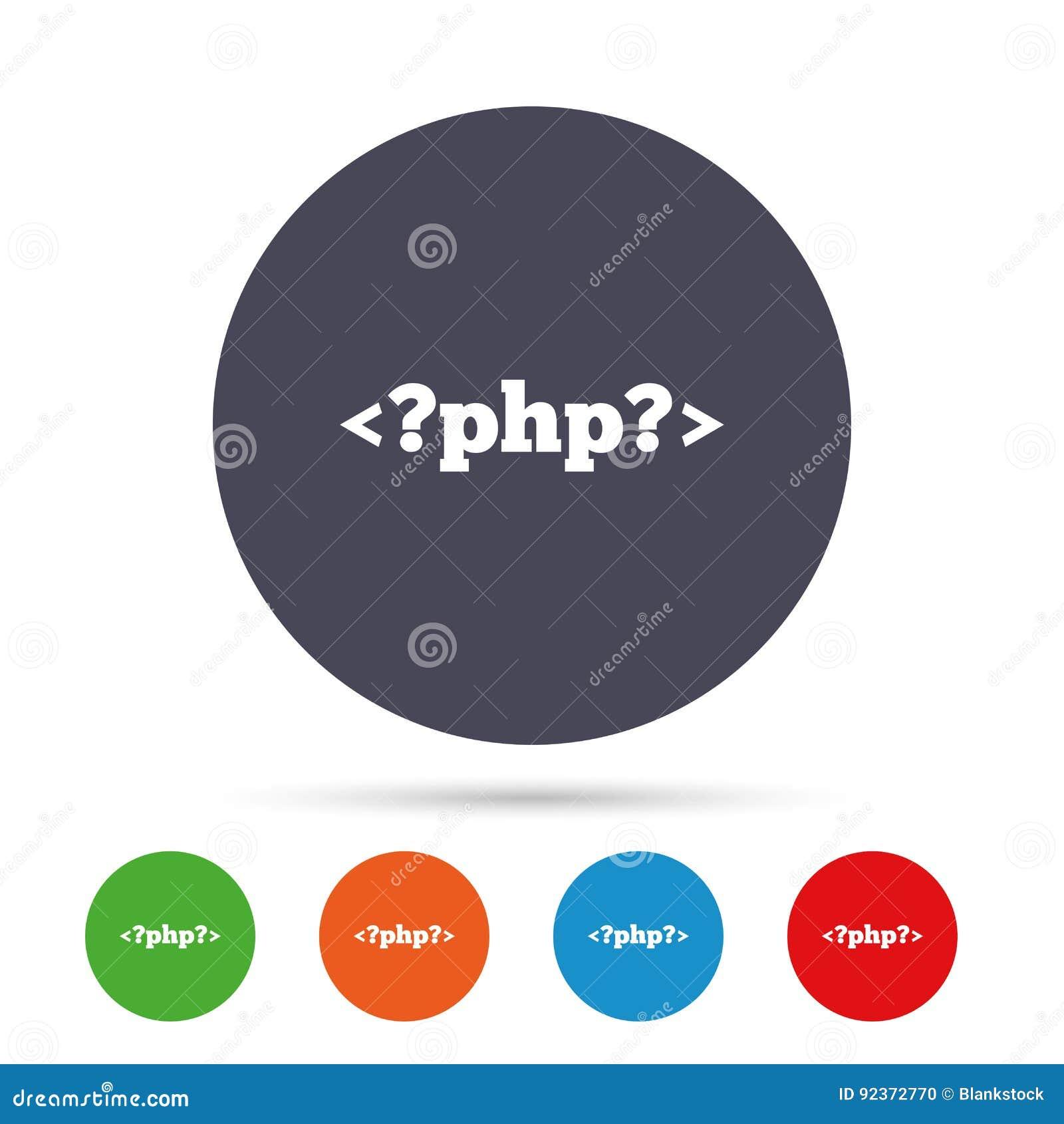 Cone do sinal do php smbolo da linguagem de programao ilustrao download comp ccuart Choice Image