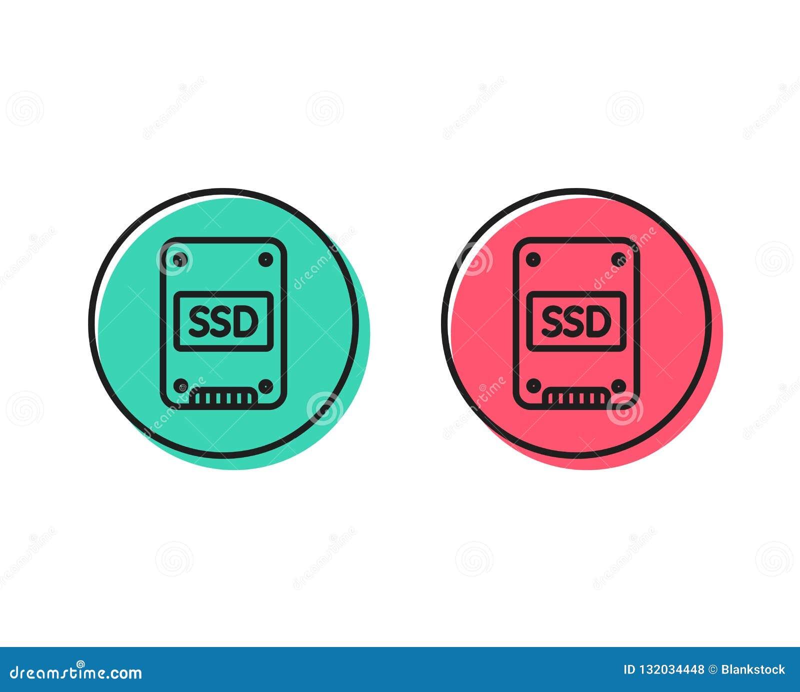 Ícone do SSD Sinal de circuito integrado da movimentação Vetor