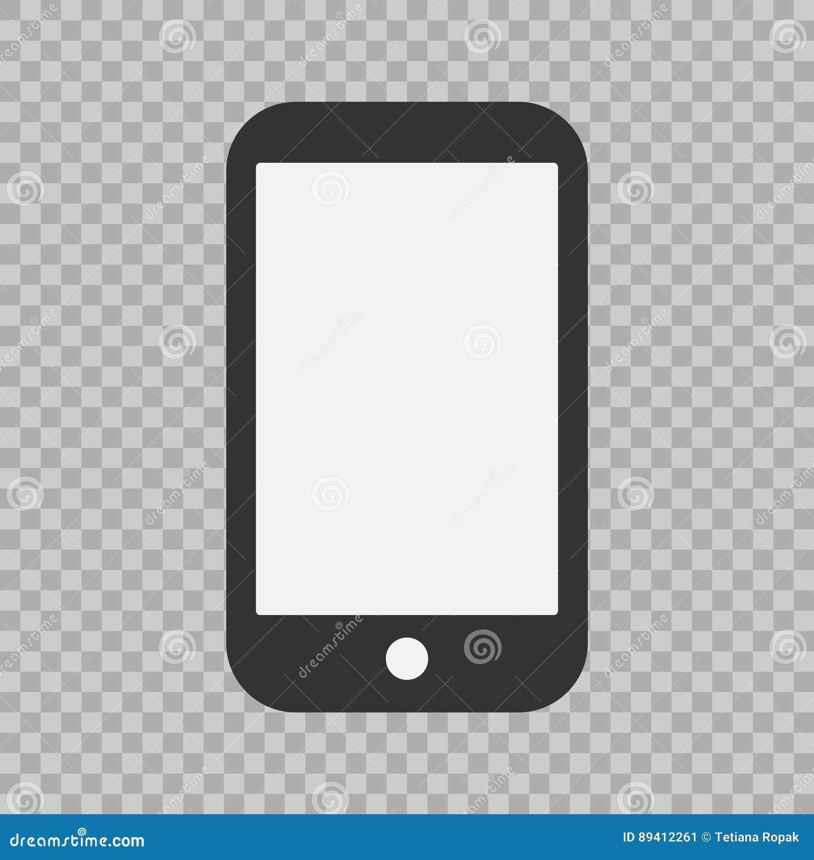 Ícone do telefone, ilustração do vetor Sinal liso simples moderno do dispositivo Conceito do computador do Internet Símbolo na mo
