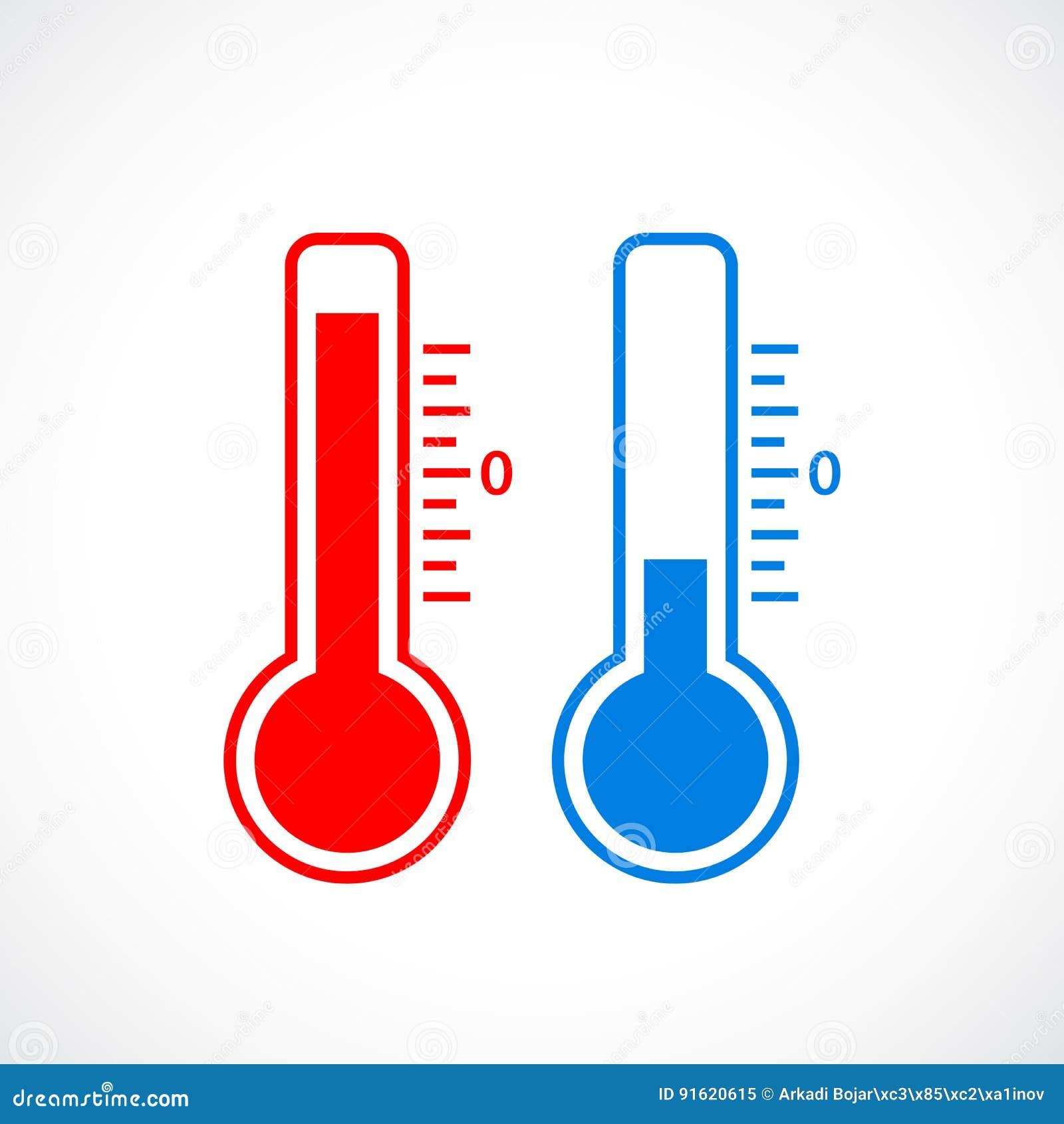 Icone Do Termometro Do Tempo Quente E Frio Ilustracao Do Vetor Ilustracao De Termometro Frio 91620615 Un termómetro es un instrumento utilizado para medir la temperatura con un alto nivel de exactitud. dreamstime