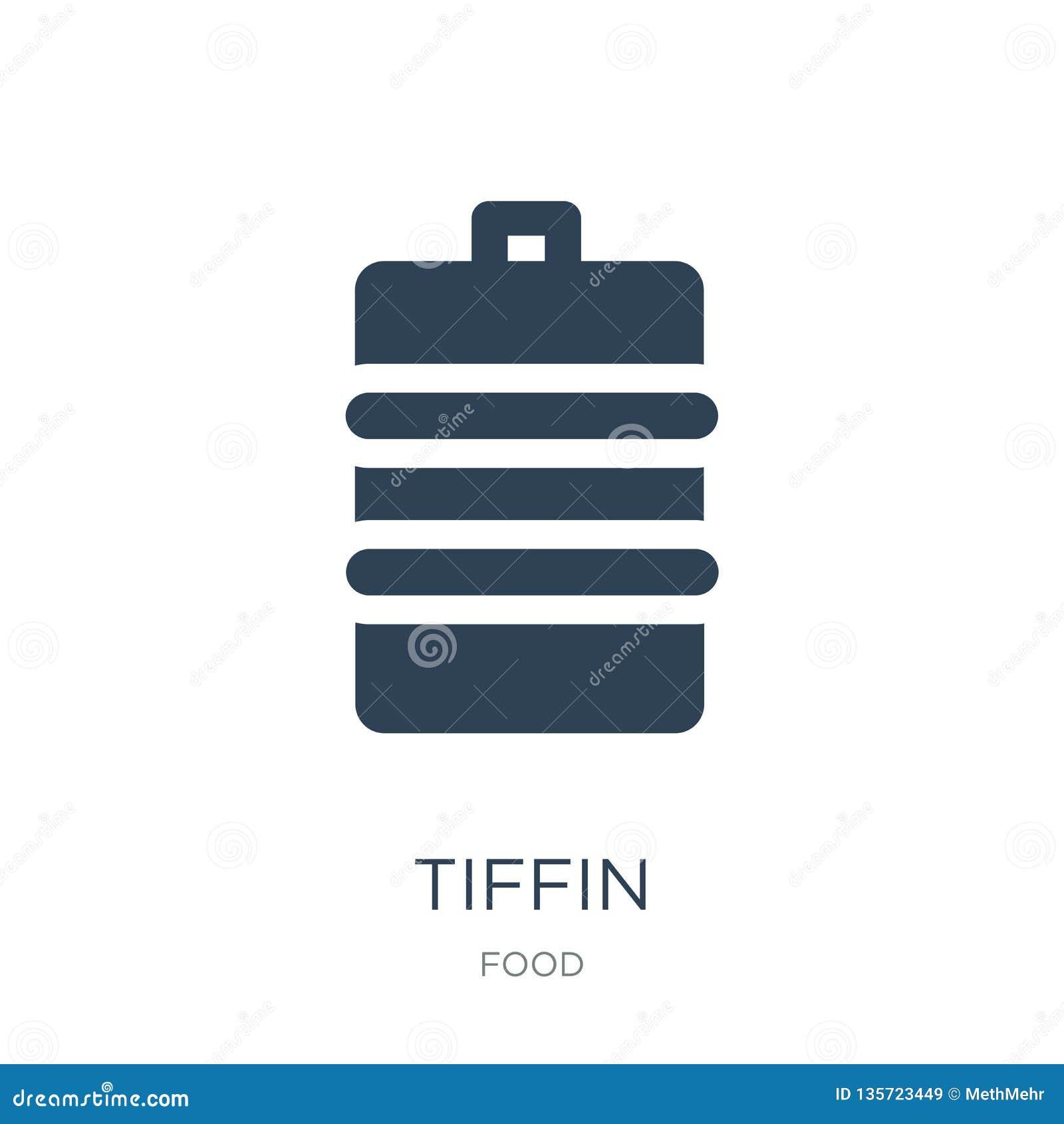 ícone do tiffin no estilo na moda do projeto ícone do tiffin isolado no fundo branco símbolo liso simples e moderno do ícone do v