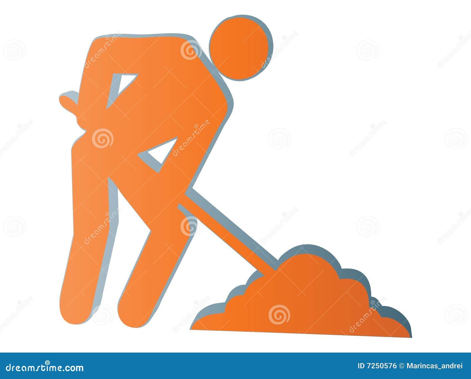 ícone do trabalhador 3d