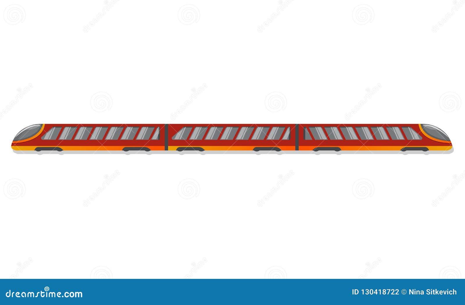 Ícone do trem do metro, estilo dos desenhos animados