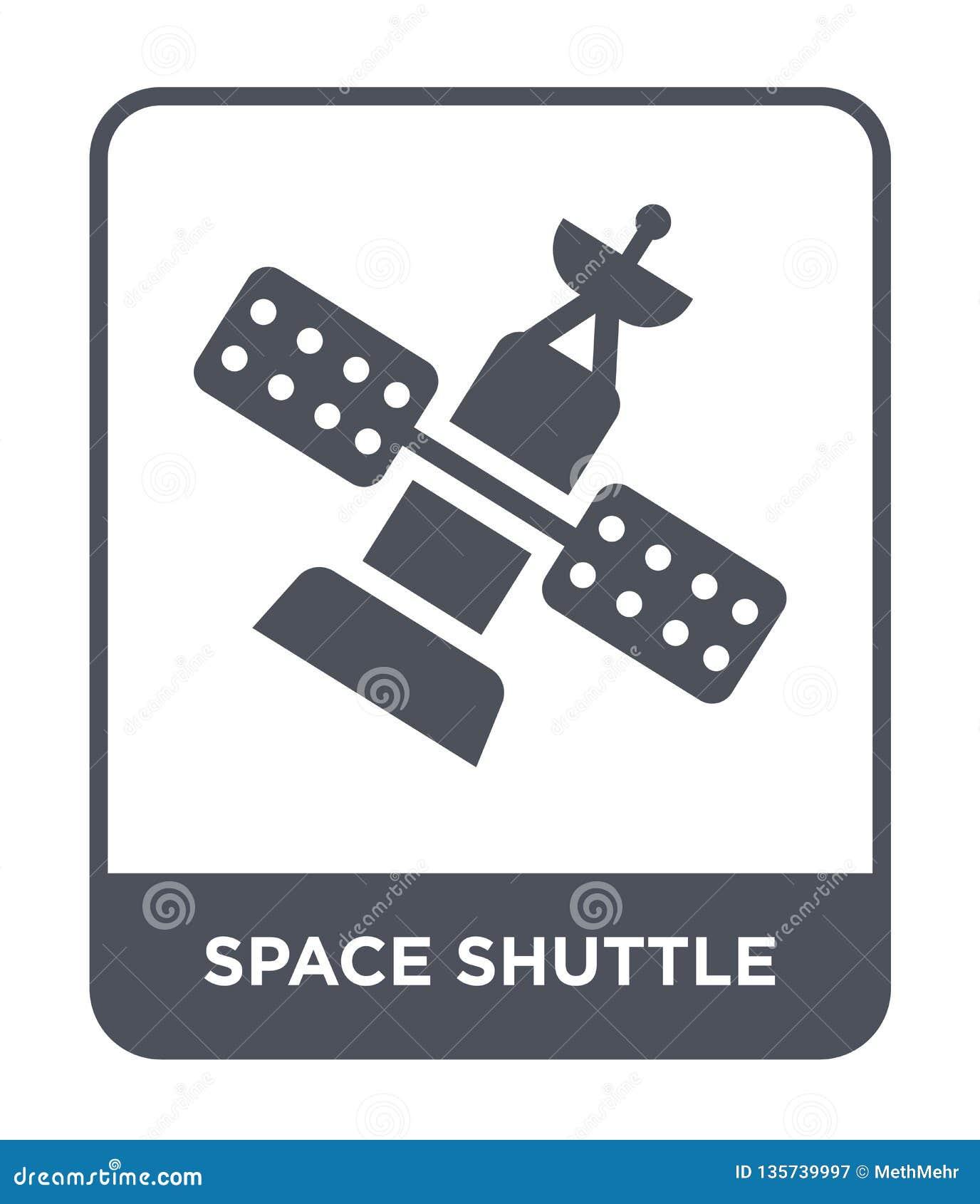 ícone do vaivém espacial no estilo na moda do projeto Ícone do vaivém espacial isolado no fundo branco ícone do vetor de vaivém e