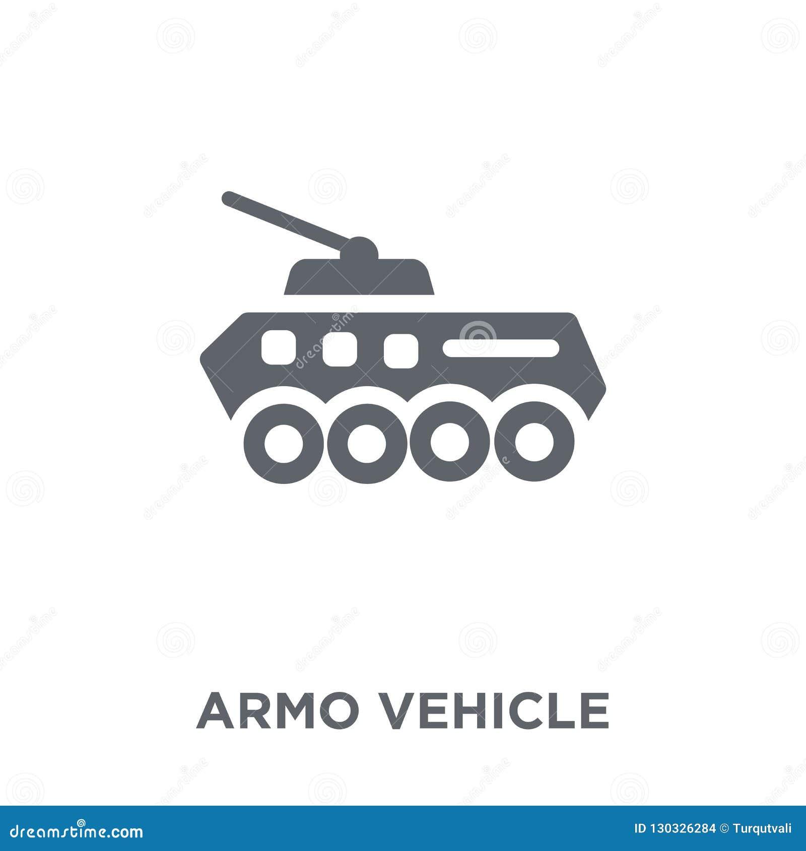 Ícone do veículo blindado da coleção do exército