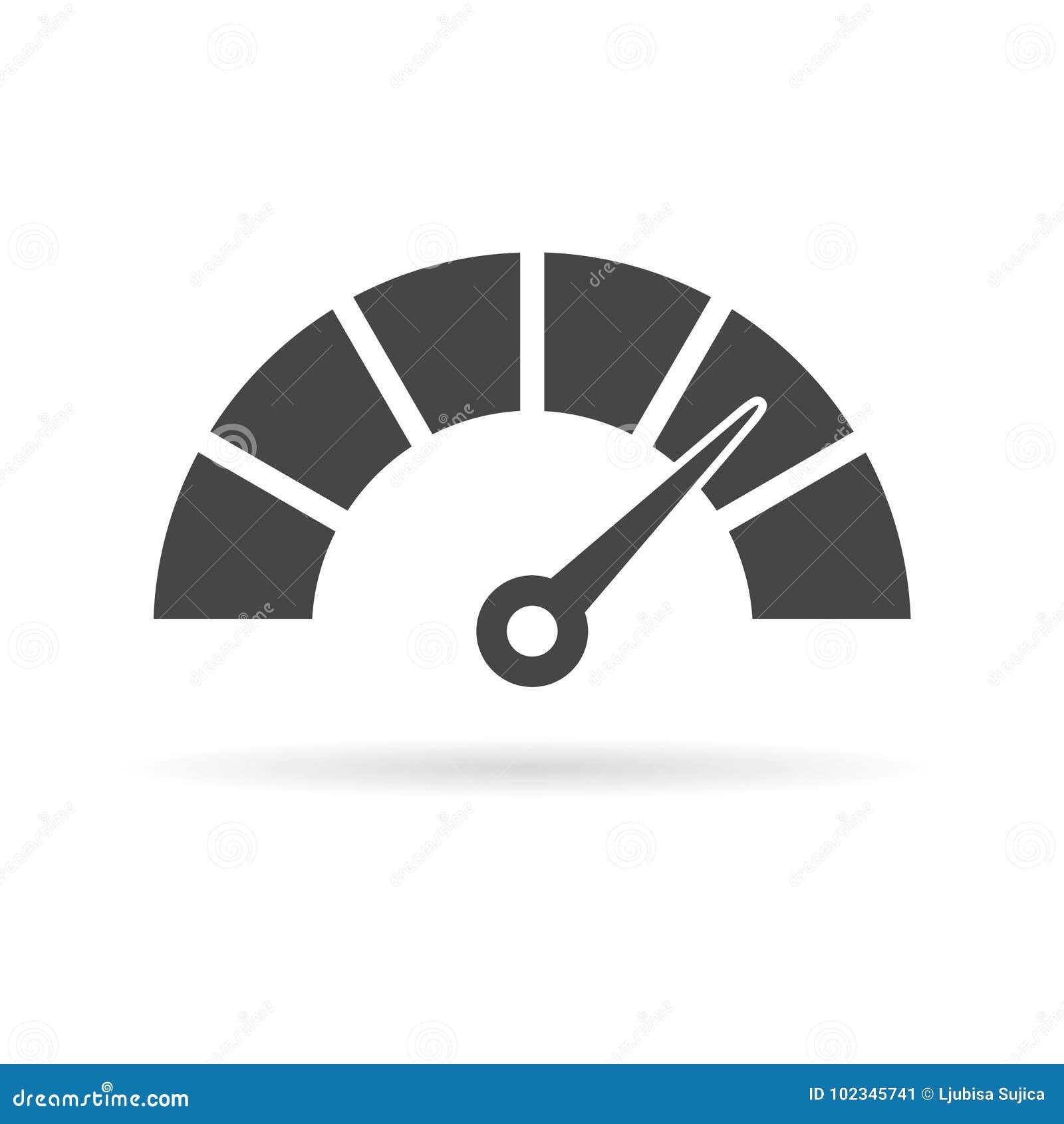 Ícone do velocímetro ou do calibre
