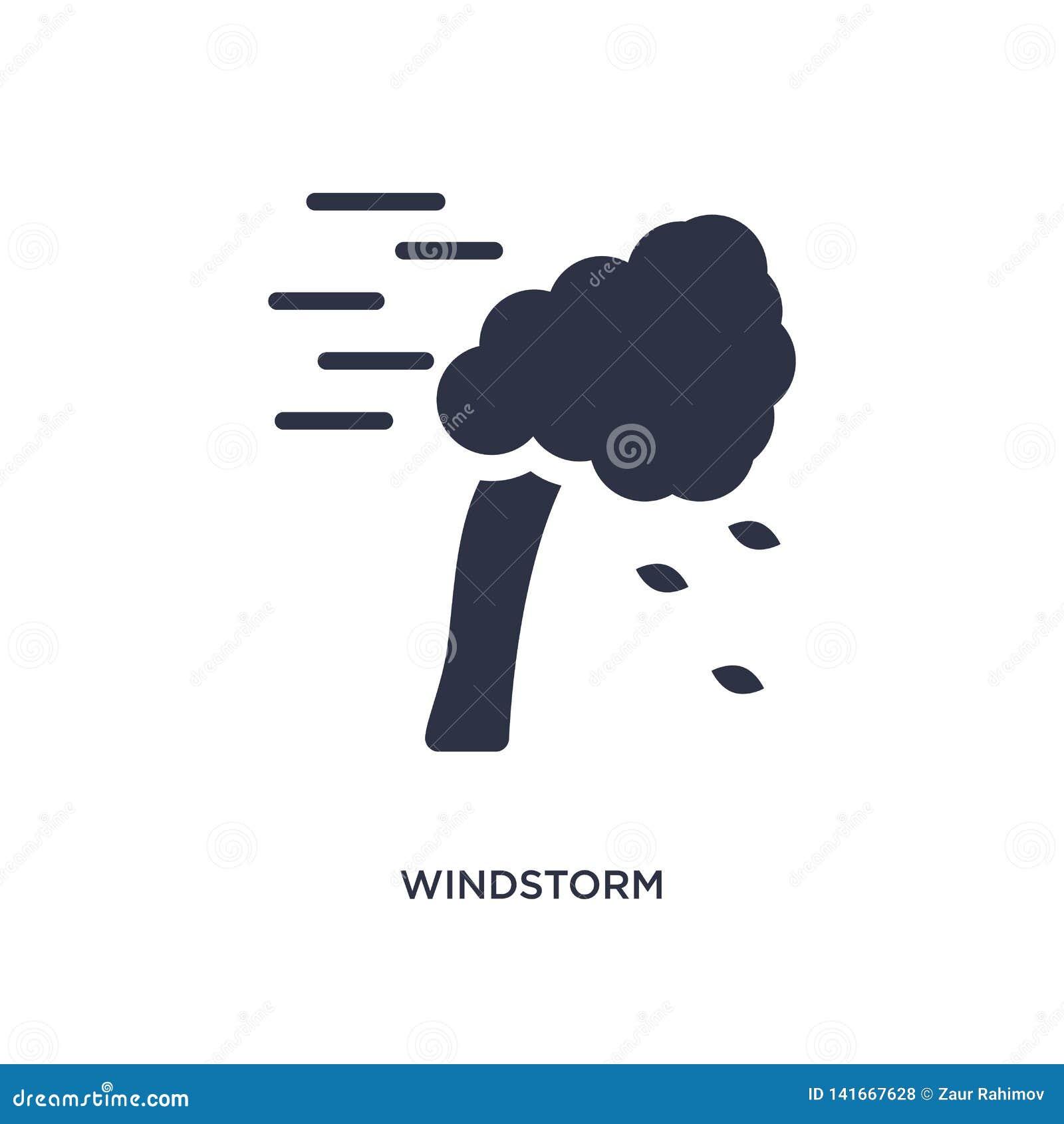 ícone do ventania no fundo branco Ilustração simples do elemento do conceito da natureza