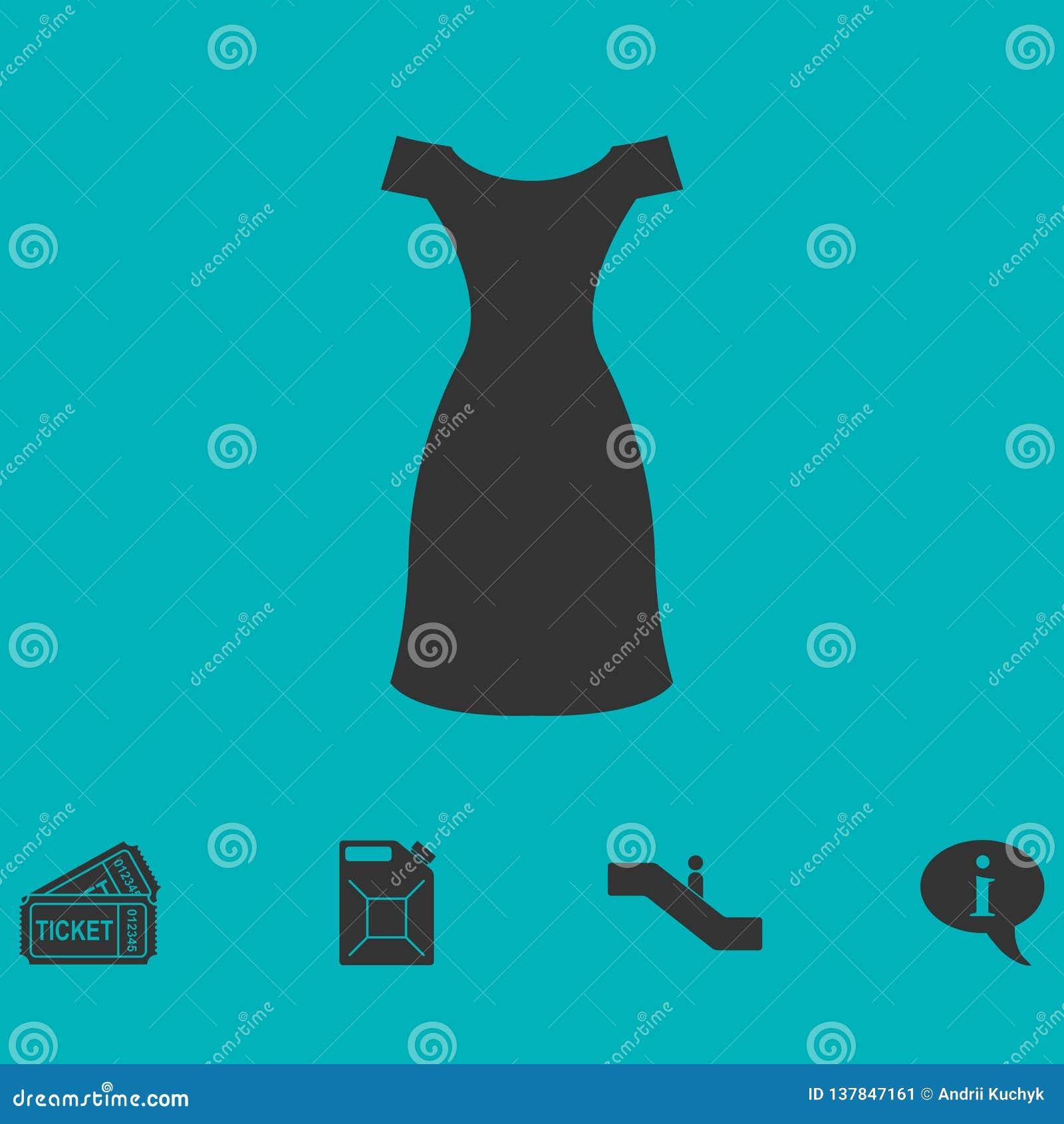 Ícone do vestido liso