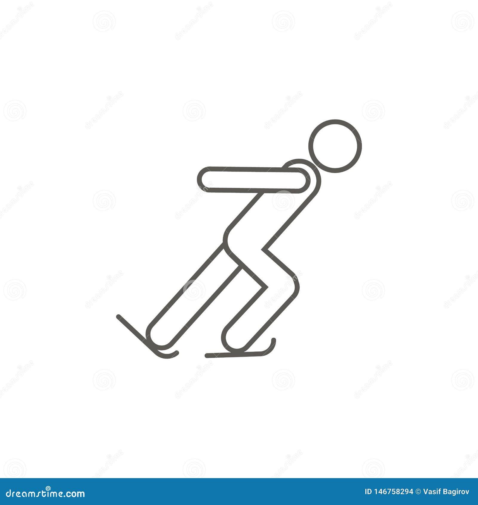?cone do vetor do atleta da patinagem no gelo Ilustra??o simples do elemento do mapa e do conceito da navega??o ?cone do vetor do
