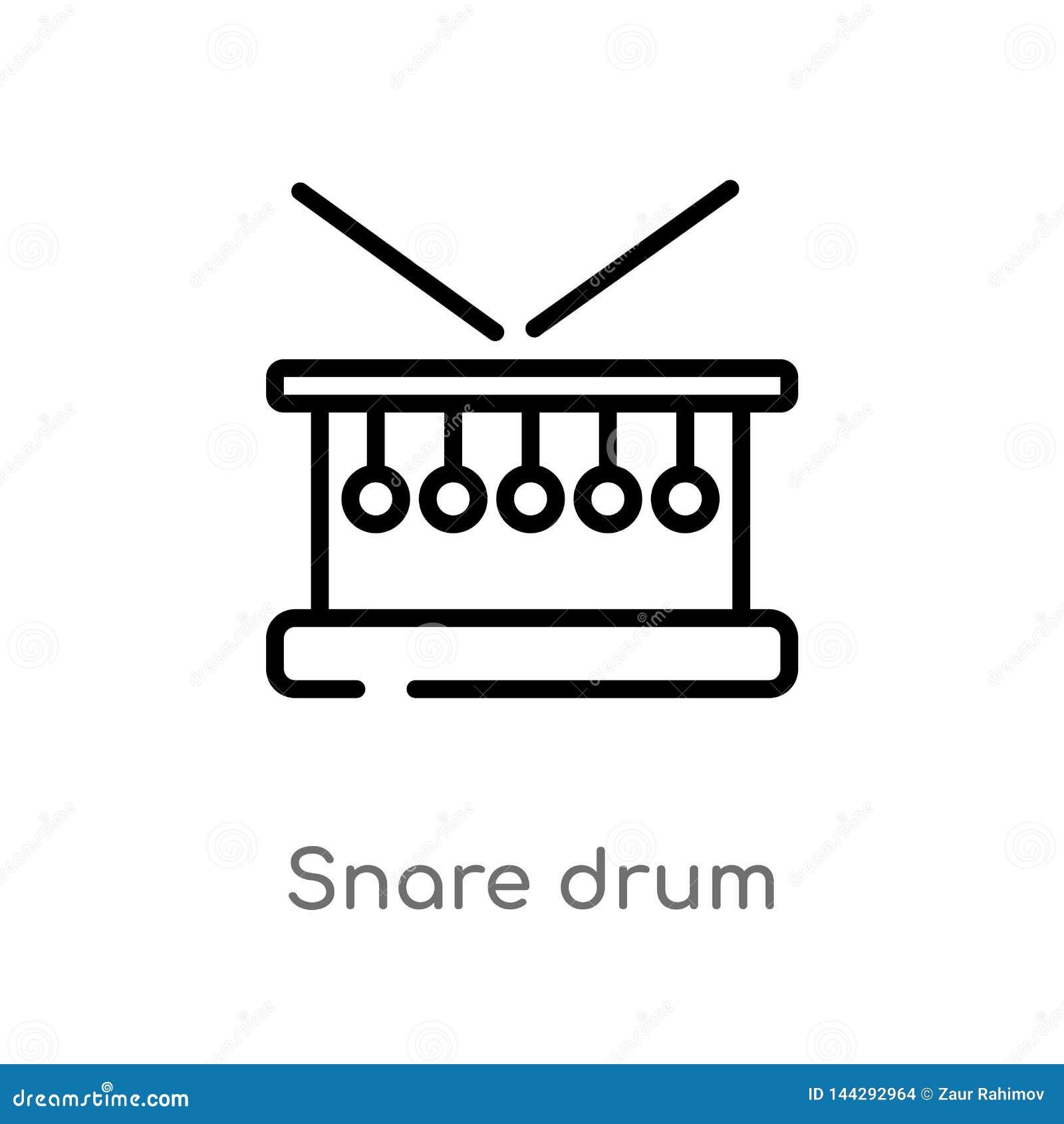 ícone do vetor do cilindro de cilada do esboço linha simples preta isolada ilustração do elemento do conceito da música cilada ed