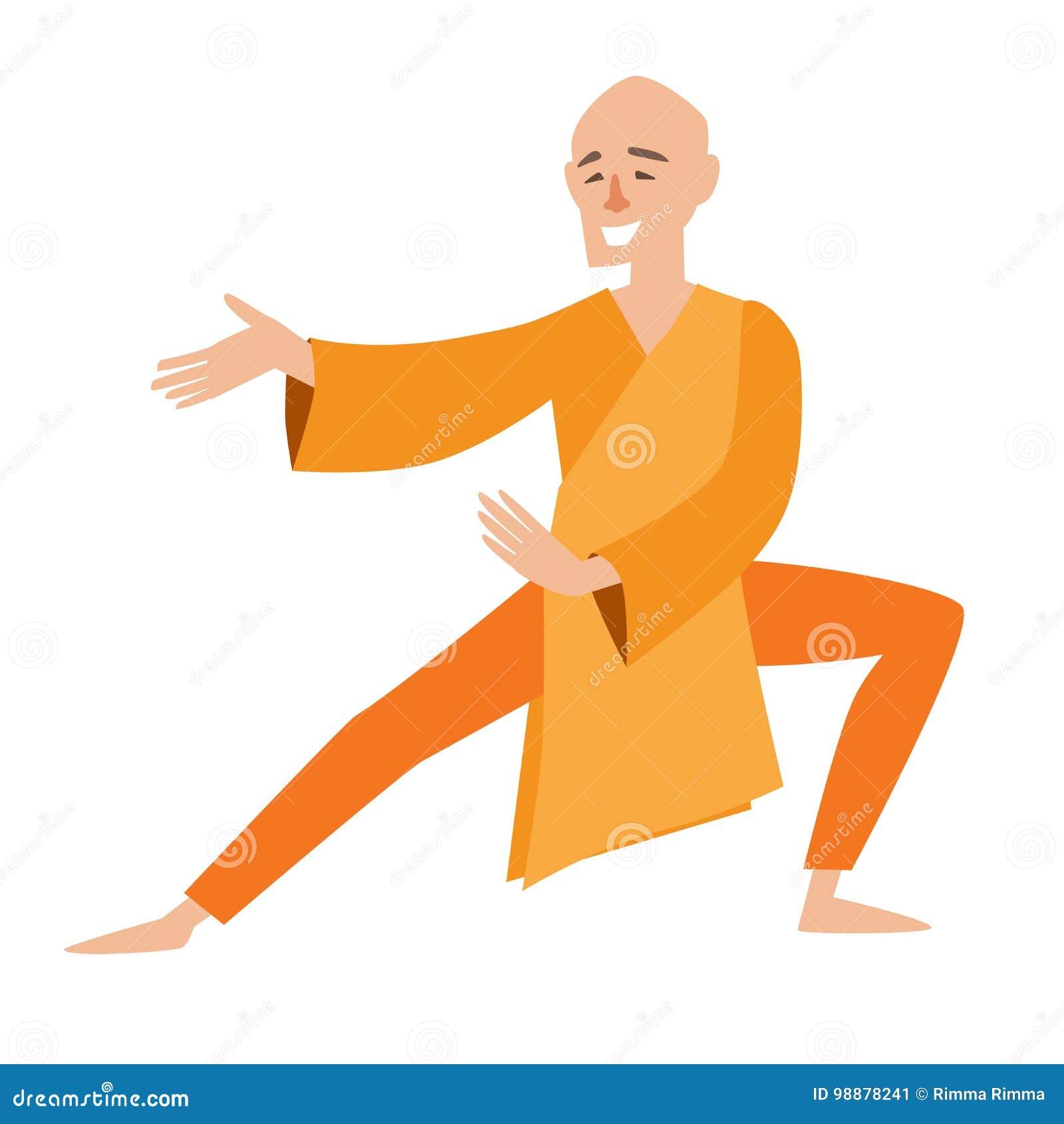 Icone Do Vetor Da Monge De Shaolin Ilustracao Do Vetor