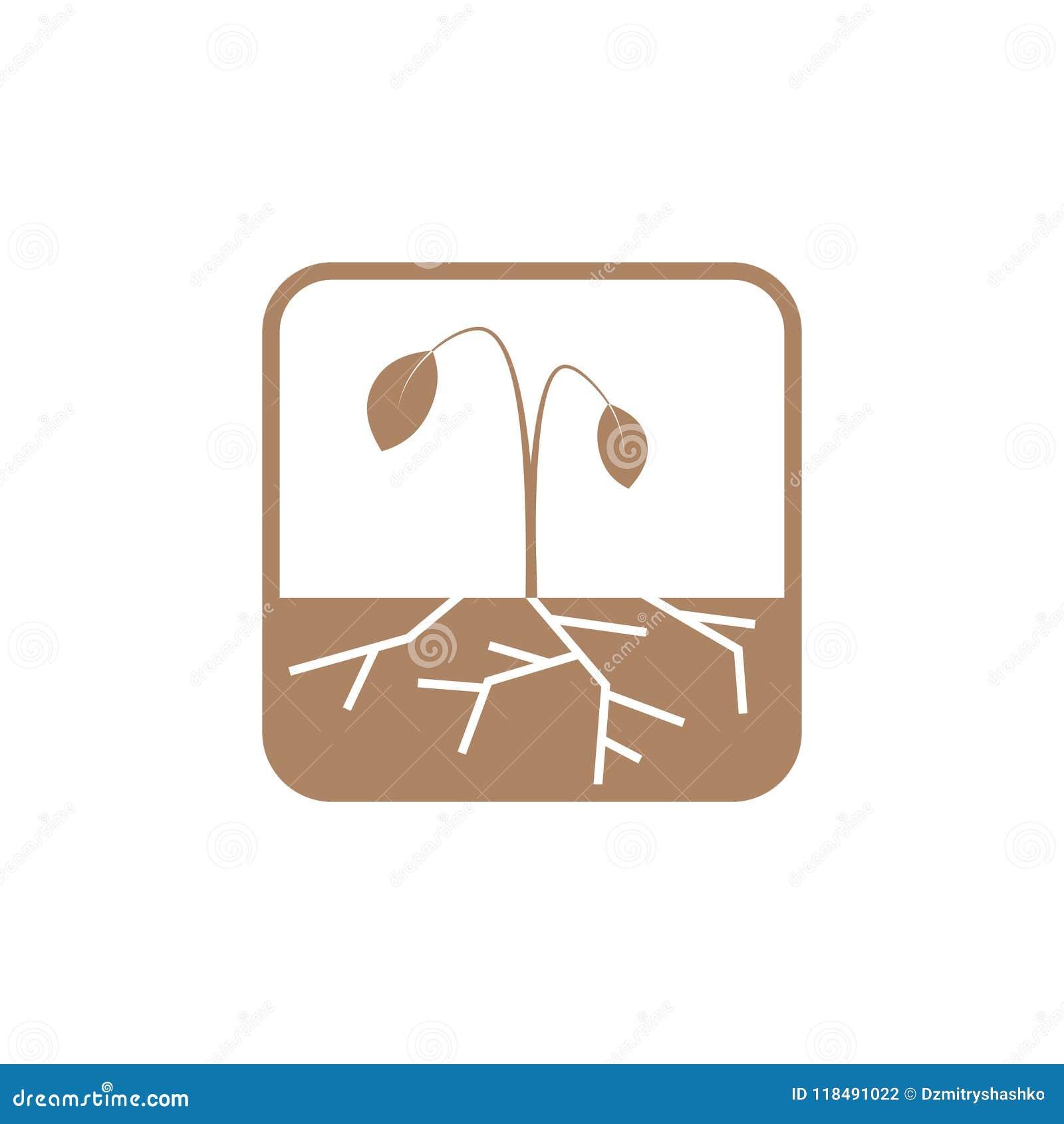 Ícone do vetor da seca