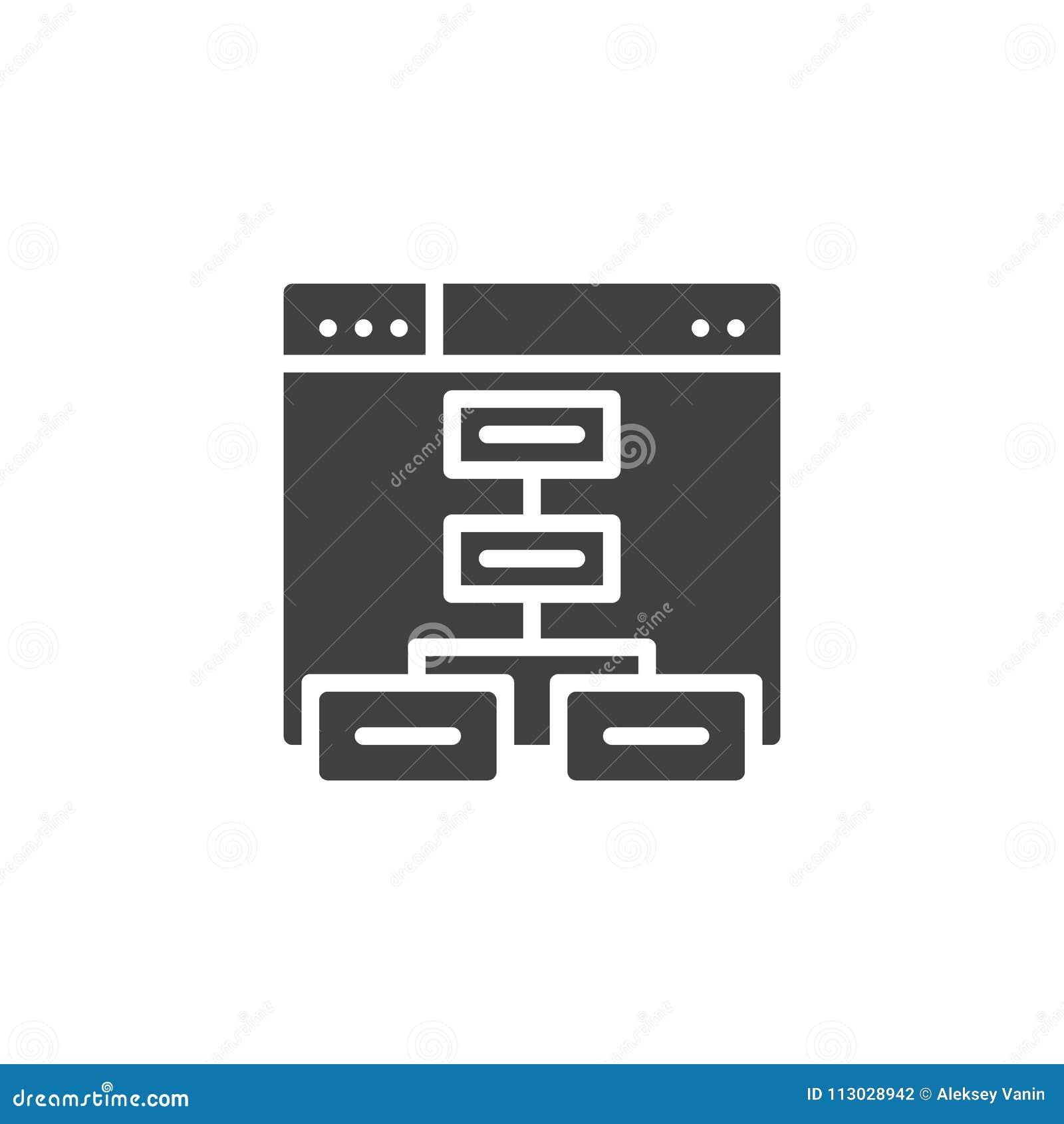 Ícone do vetor de Sitemap