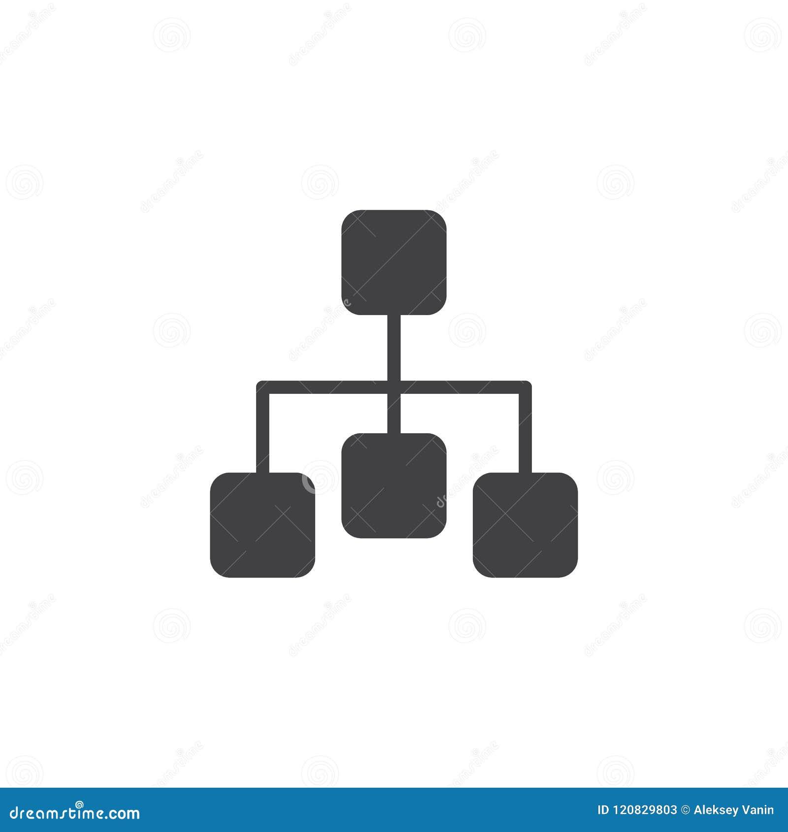 Ícone do vetor do diagrama