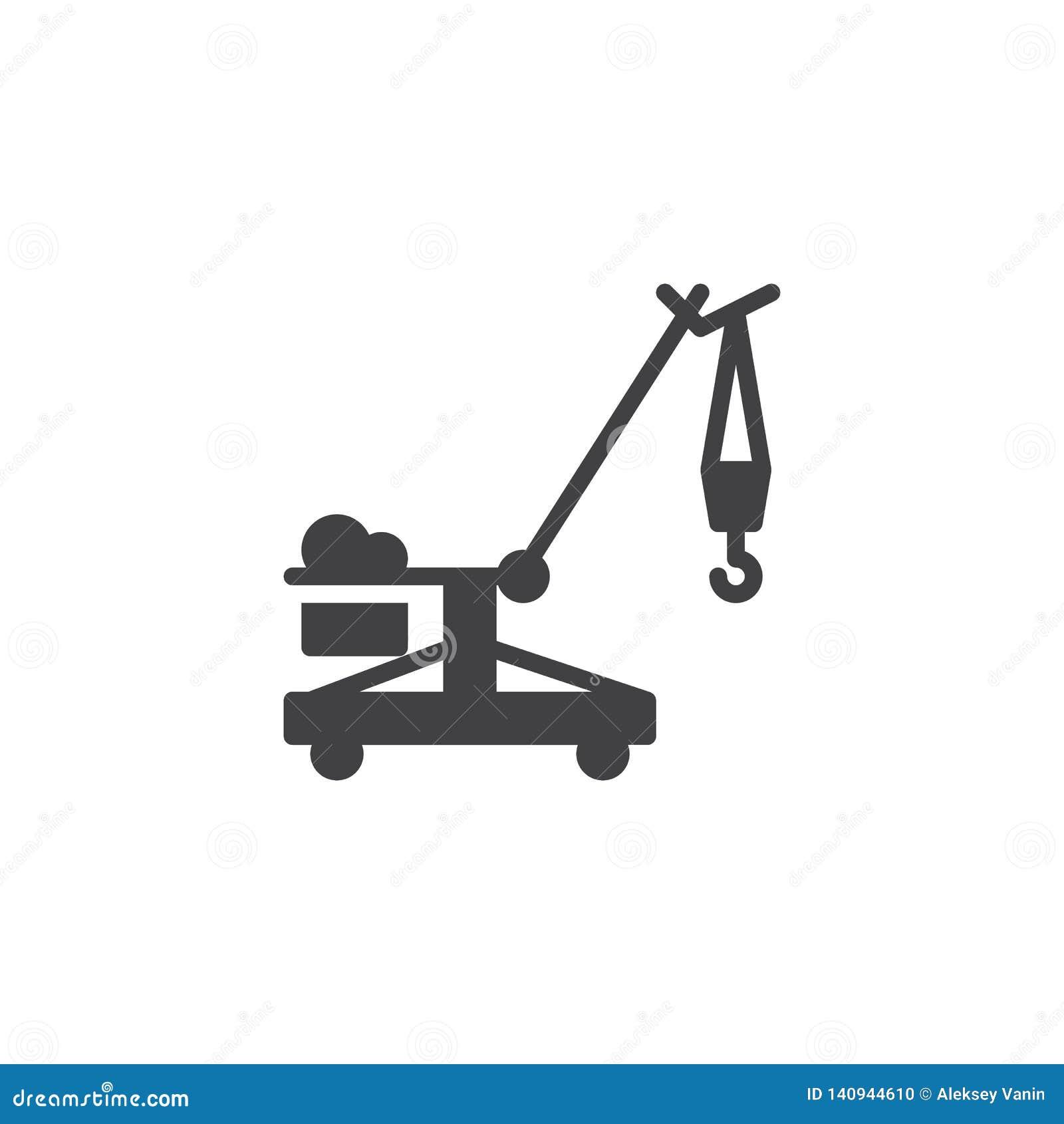 Ícone do vetor do guindaste de esteira rolante