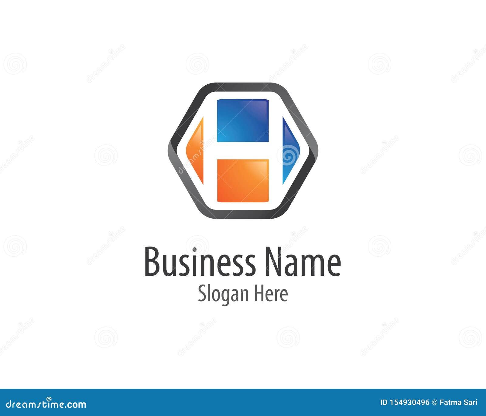Ícone do vetor do logotipo da letra de H