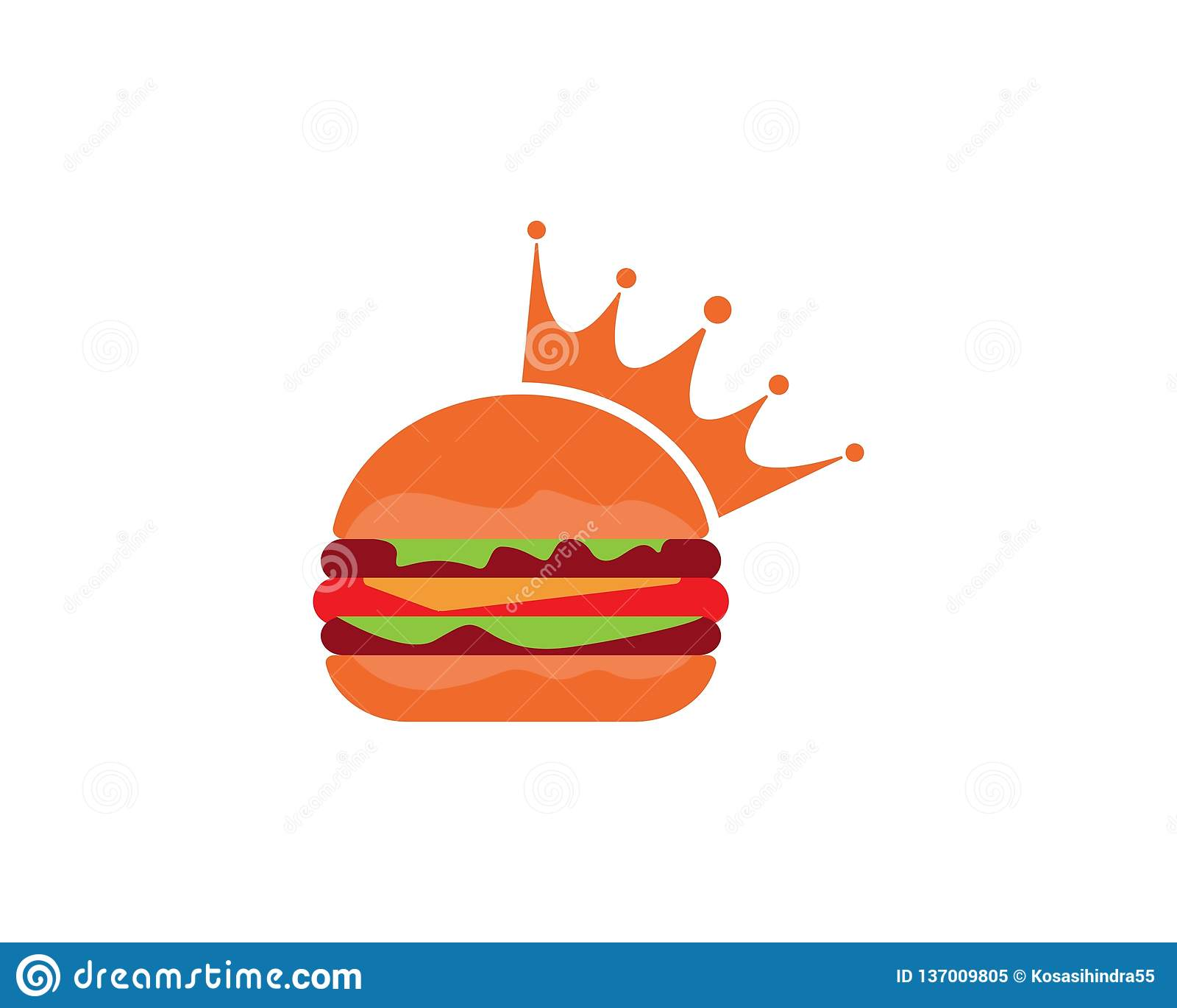 Ícone do vetor do logotipo do hamburguer