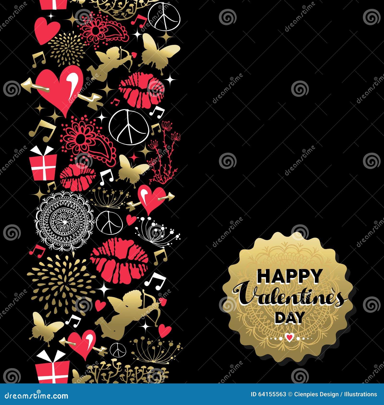 Ícone do vintage do teste padrão do cartão do dia de Valentim