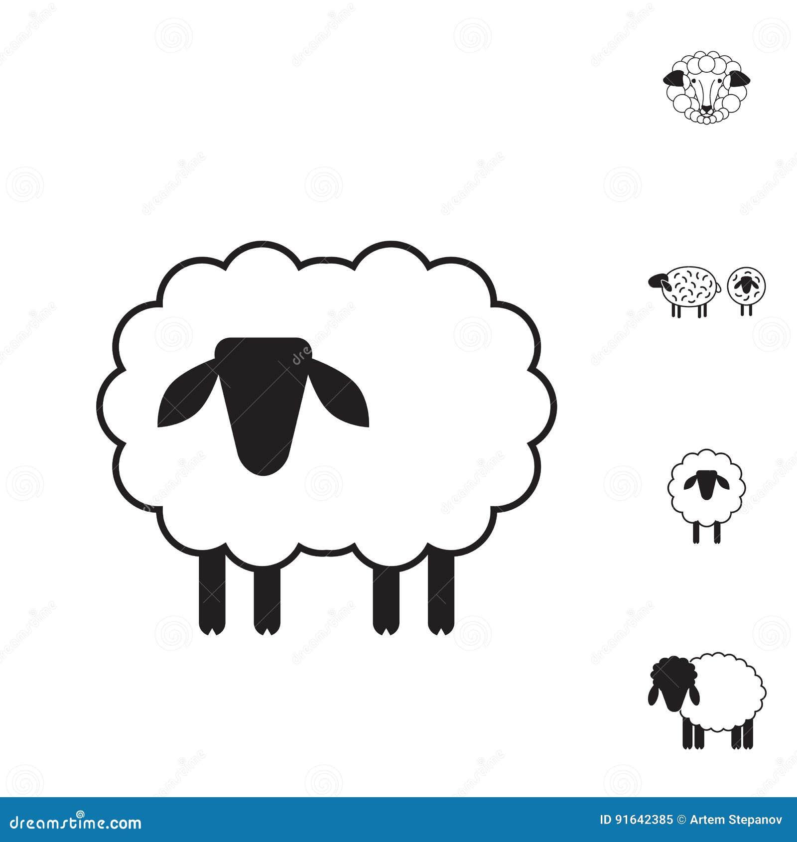 ícone Dos Carneiros Ou Da Ram Logotipo Molde Pictograma