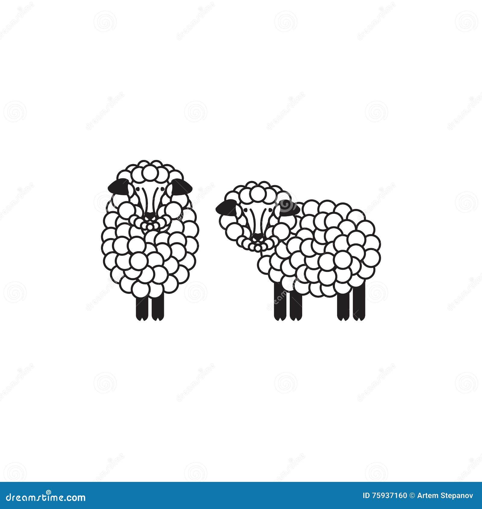 ícone Dos Carneiros Ou Da Ram Logotipo Molde Pictograma Emblema