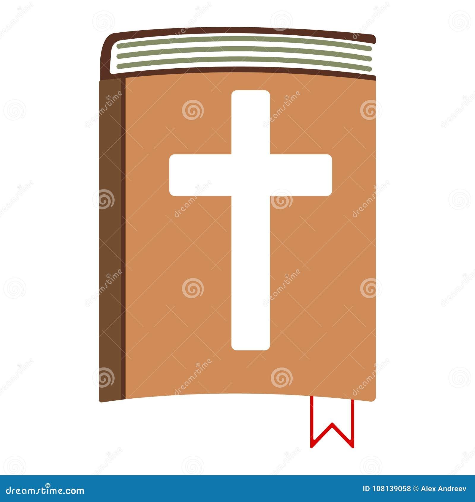 Icone Dos Desenhos Animados Da Biblia Sagrada Ilustracao Isolada