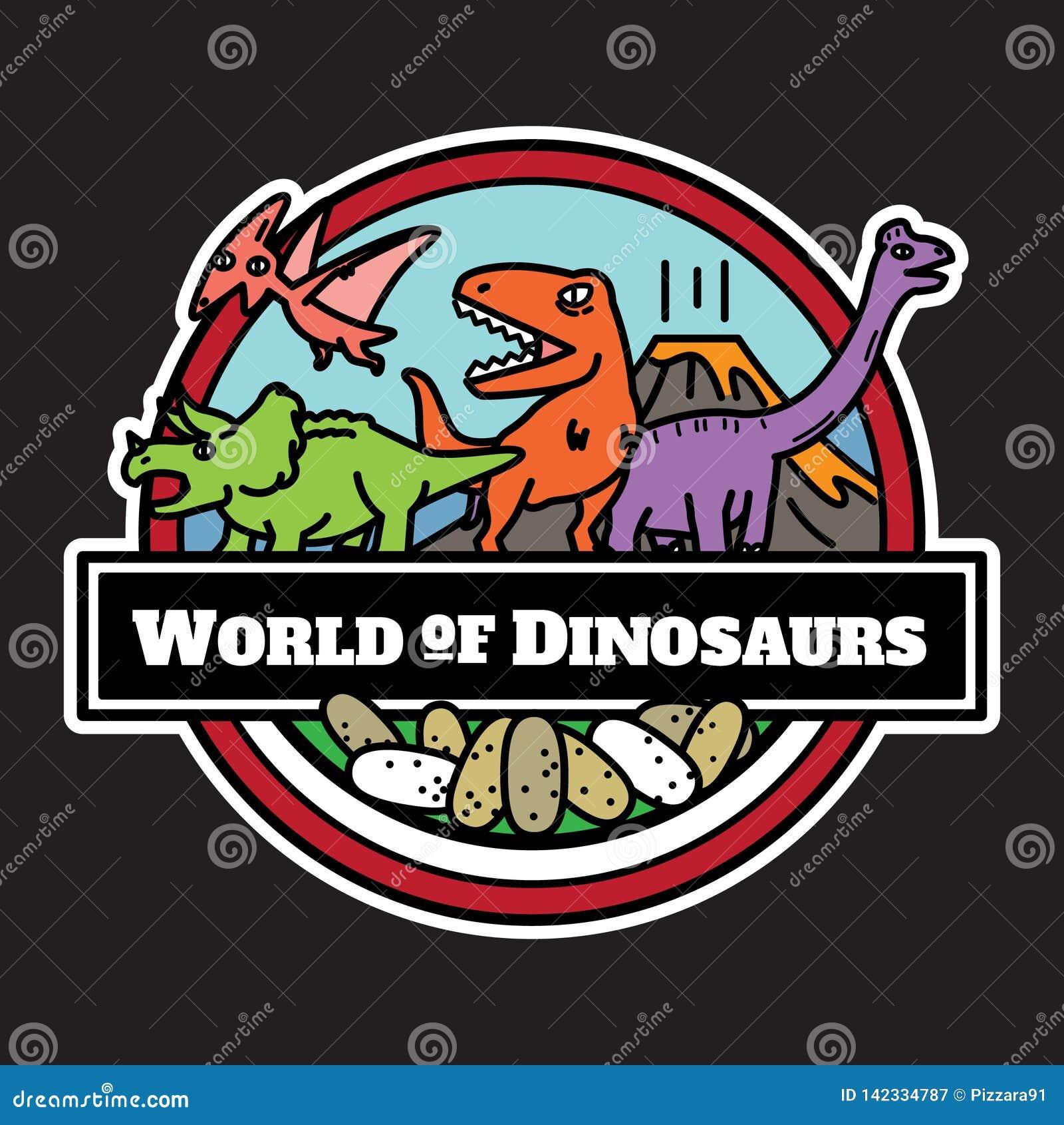 Ícone dos dinossauros isolado projeto de personagens de banda desenhada