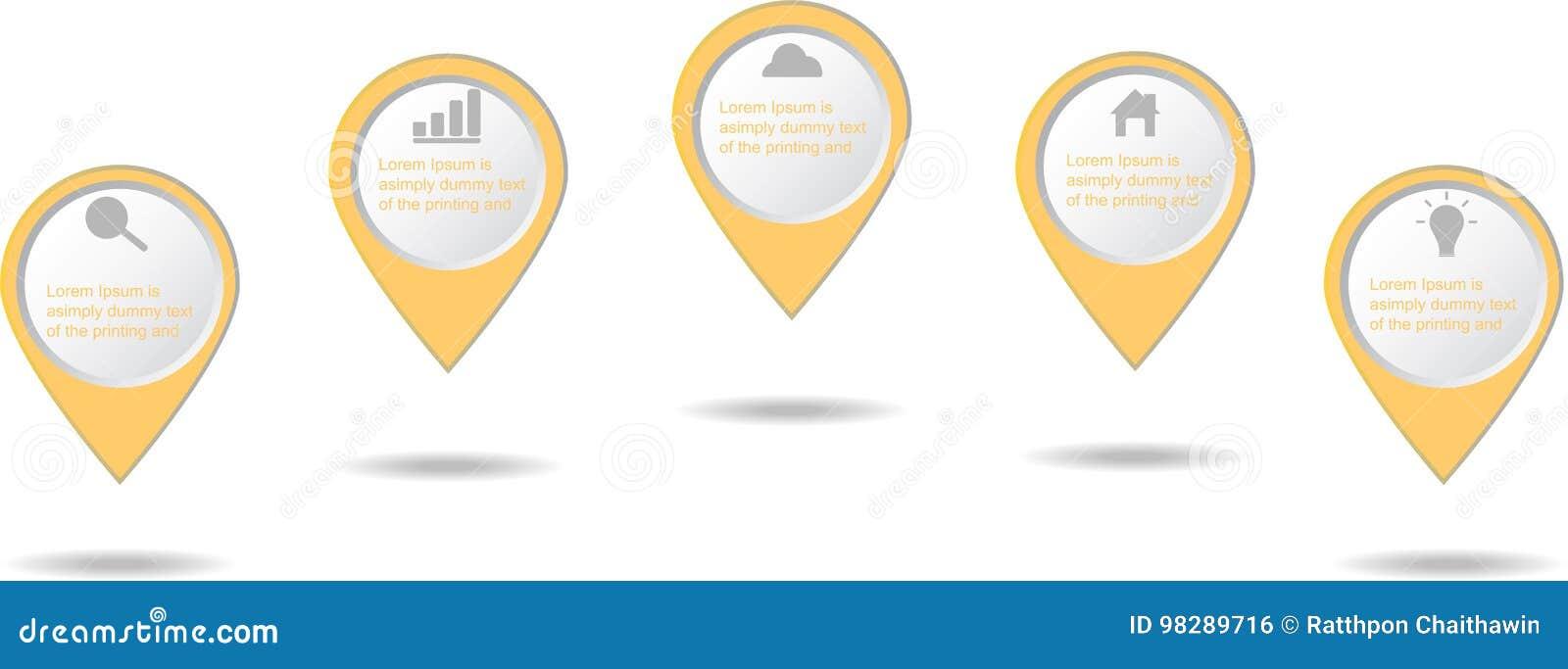 Ícone dos elementos do negócio de Infographic