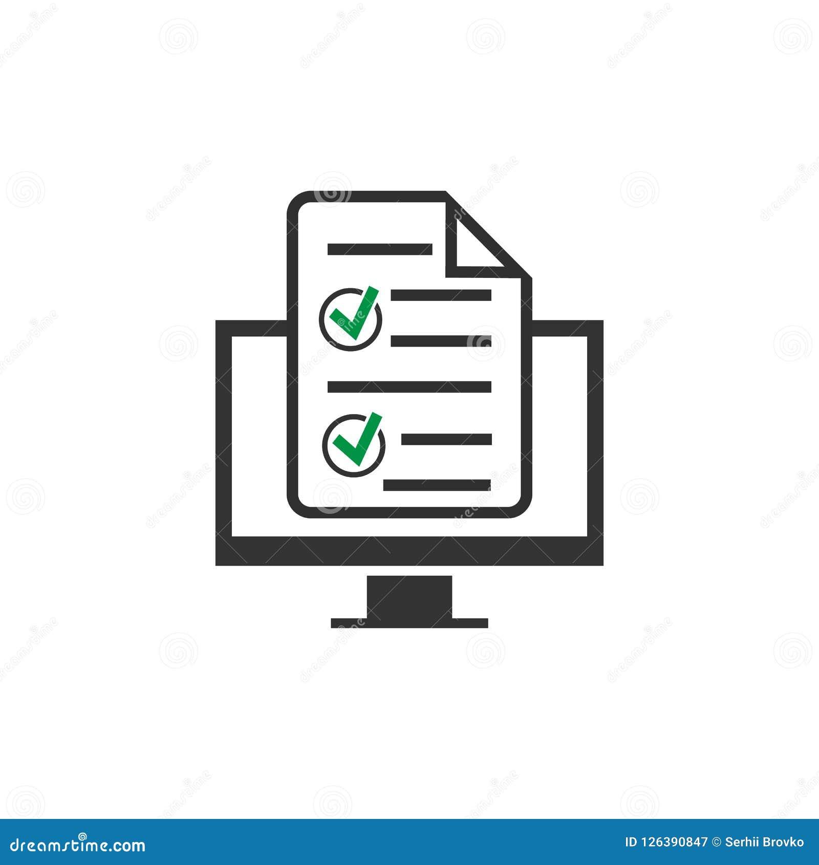 ícone em linha do formulário isolado no fundo branco Ilustração do vetor