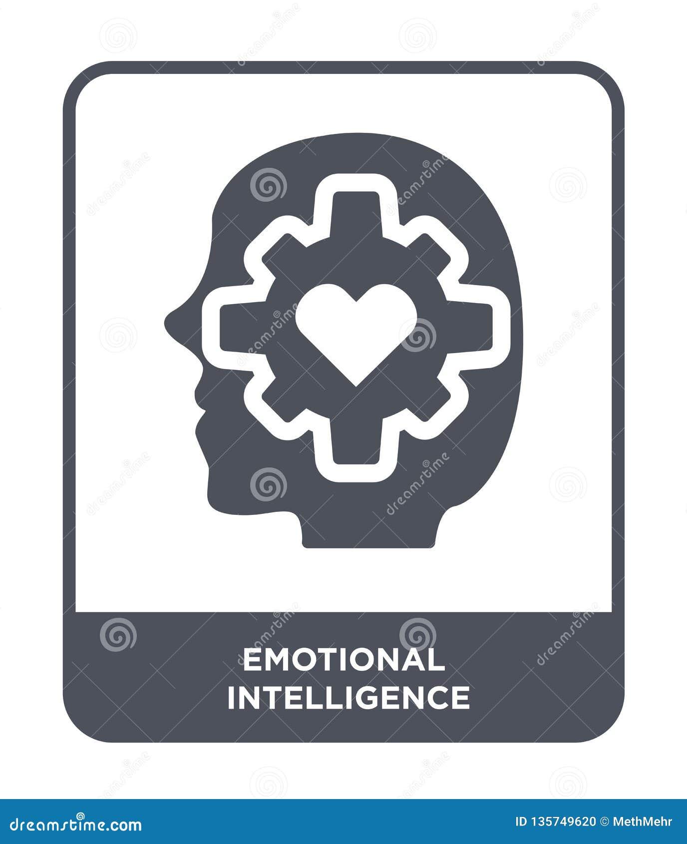 ícone emocional da inteligência no estilo na moda do projeto ícone emocional da inteligência isolado no fundo branco emocional