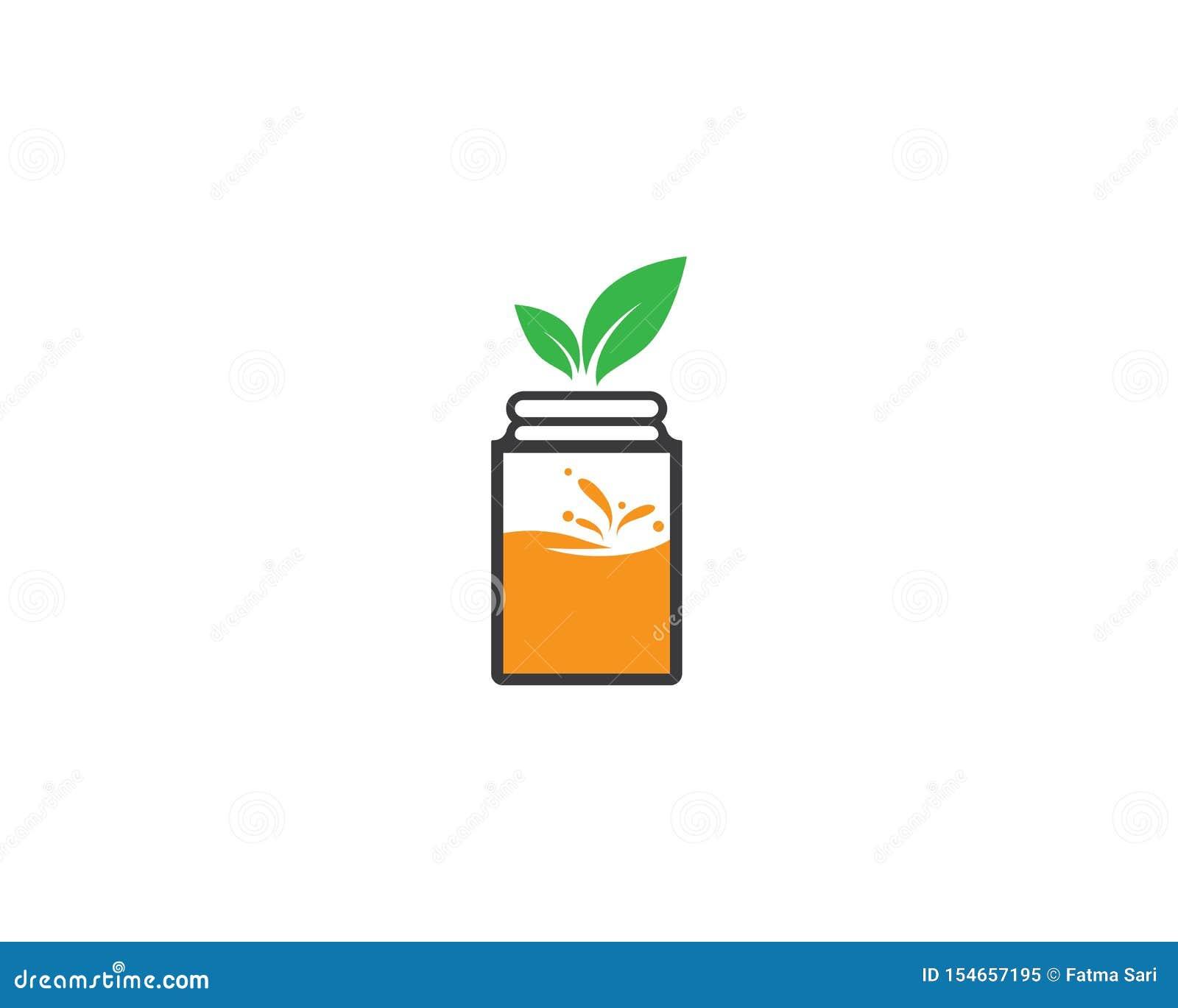Ícone fresco do logotipo do suco