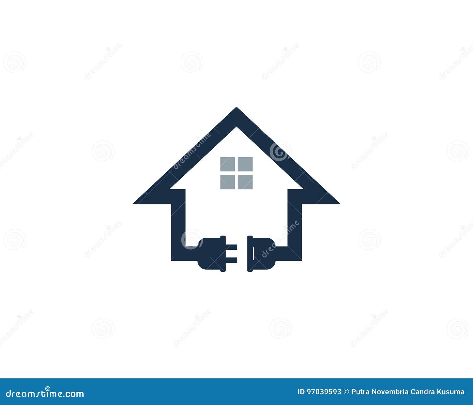 Ícone home Logo Design Element da energia do poder da casa