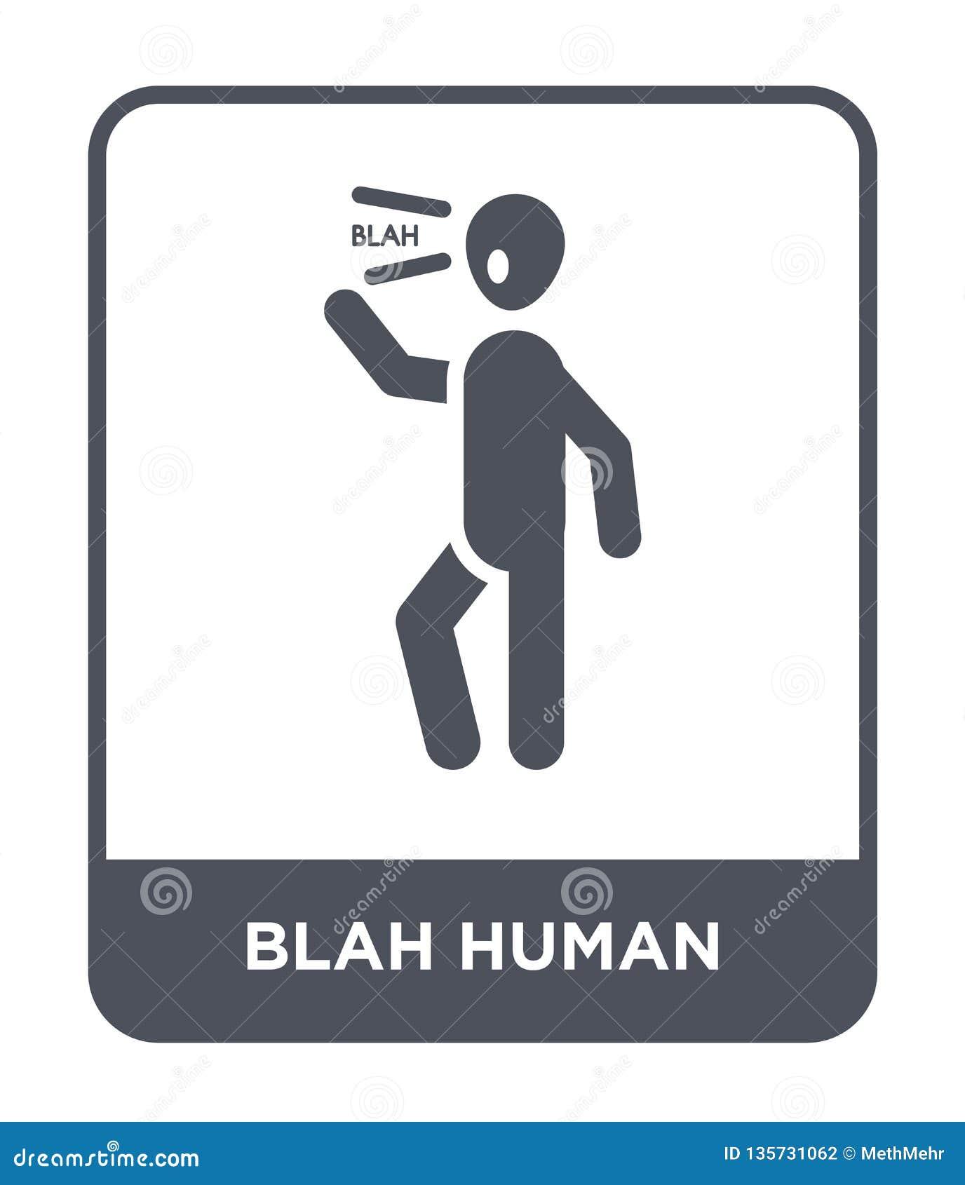 ícone humano blá no estilo na moda do projeto ícone humano blá isolado no fundo branco ícone humano blá do vetor simples e modern