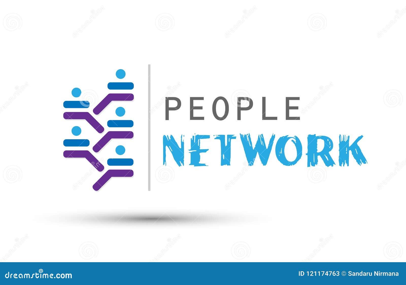 Ícone incorporado do logotipo do conceito do desenvolvimento do sucesso do grupo de trabalho da equipe da rede dos povos para o n