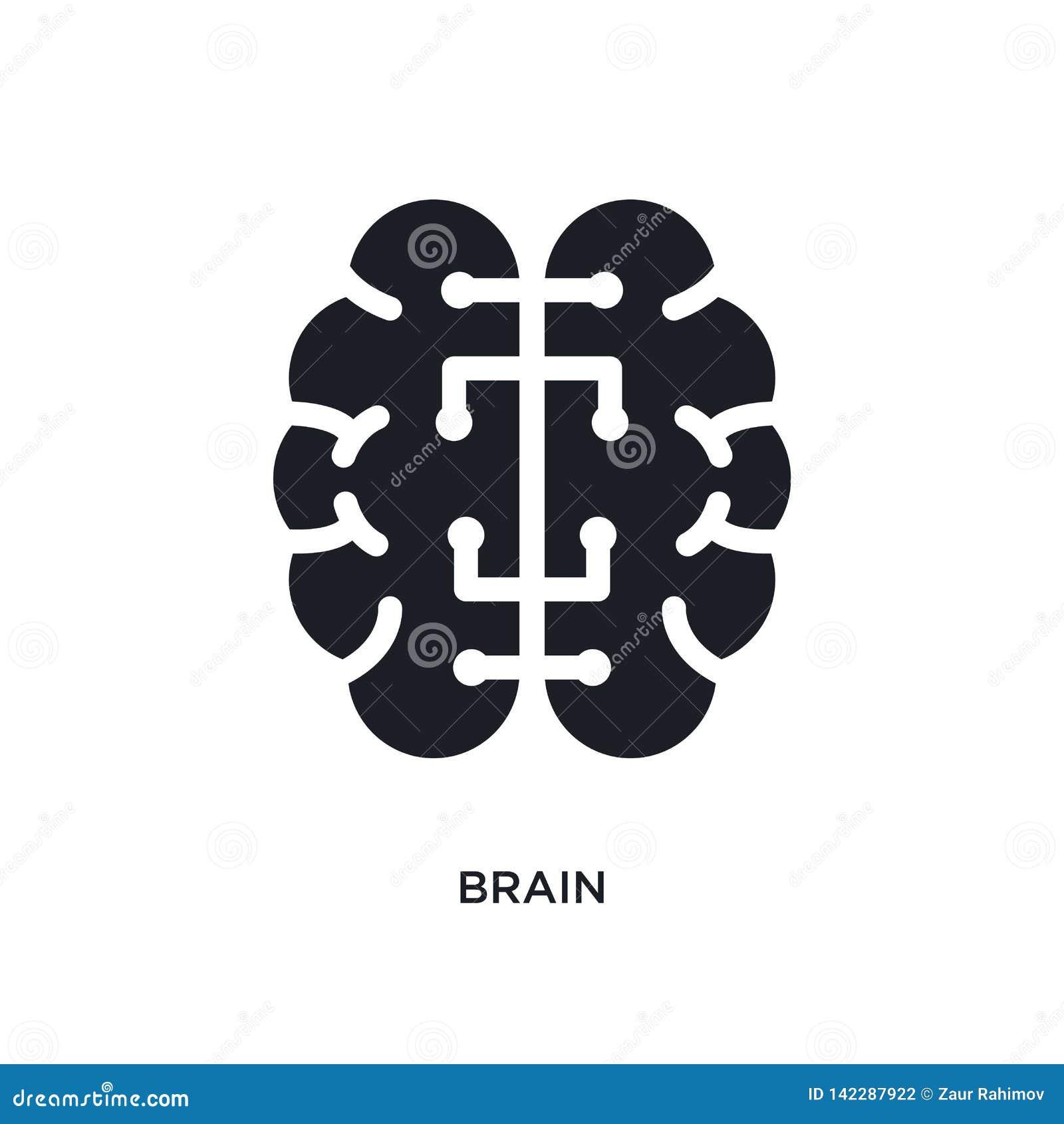 ícone isolado cérebro ilustração simples do elemento dos ícones do conceito da inteligência artificial símbolo editável do sinal