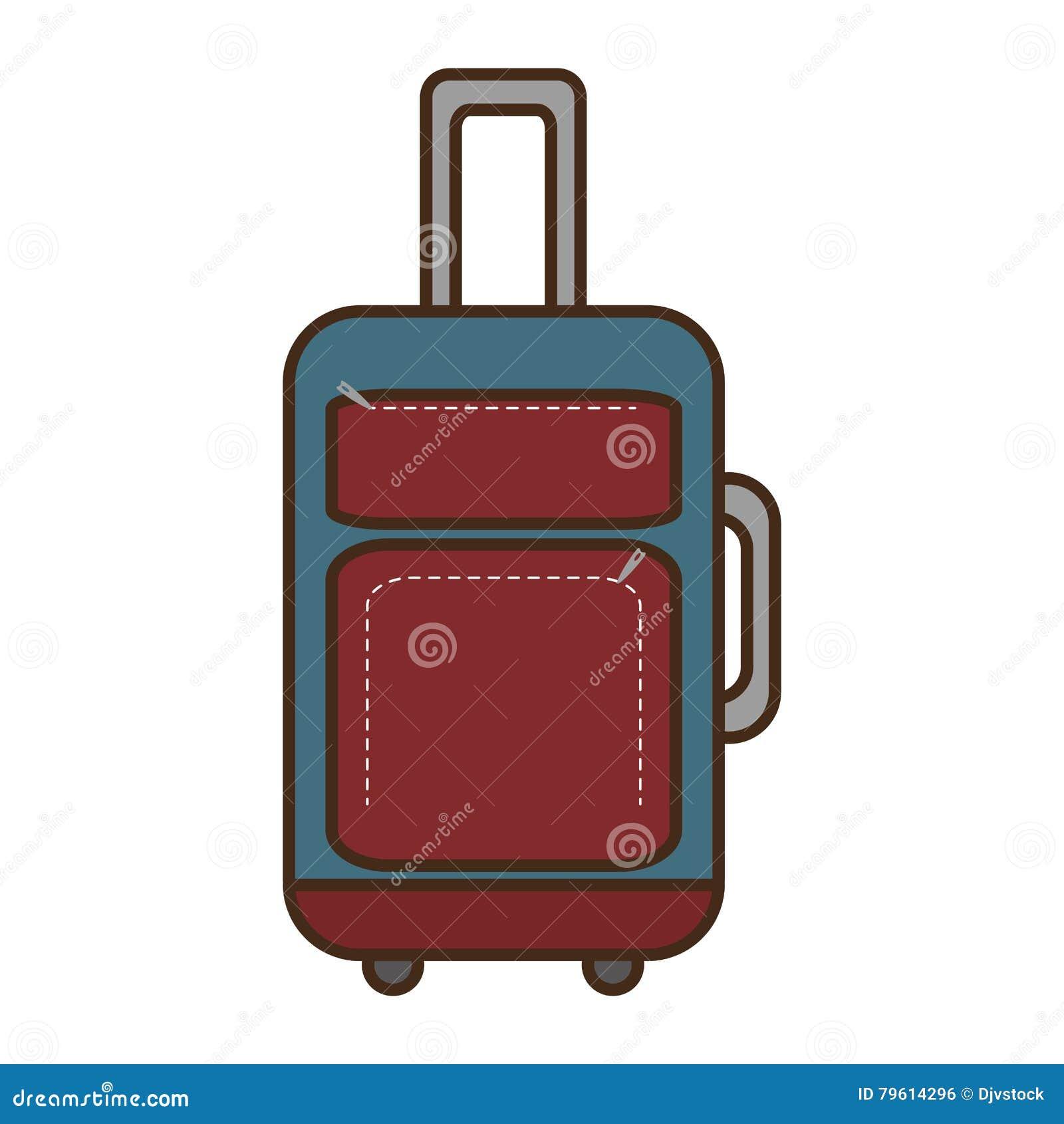 Ícone isolado curso da mala de viagem